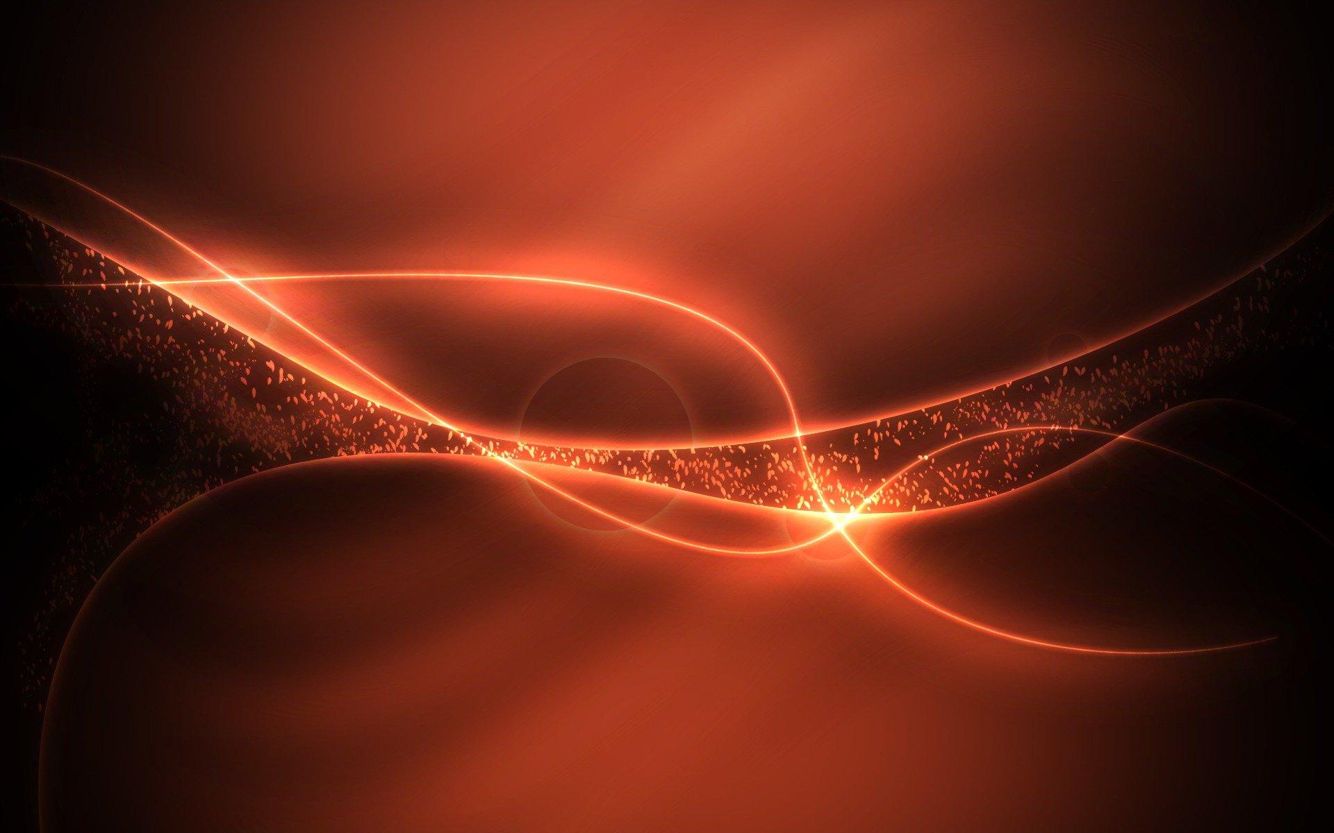 Яркий янтарный свет абстракции бесплатно