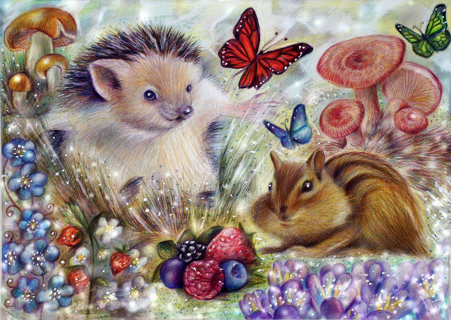 Подруге, открытки с зверями