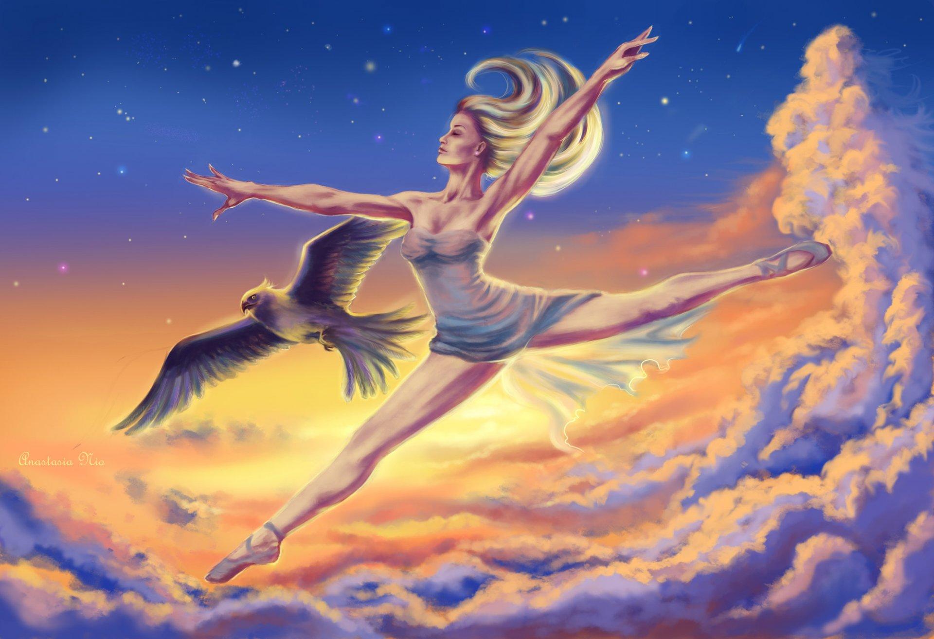 картинка человек летит на птице прочего