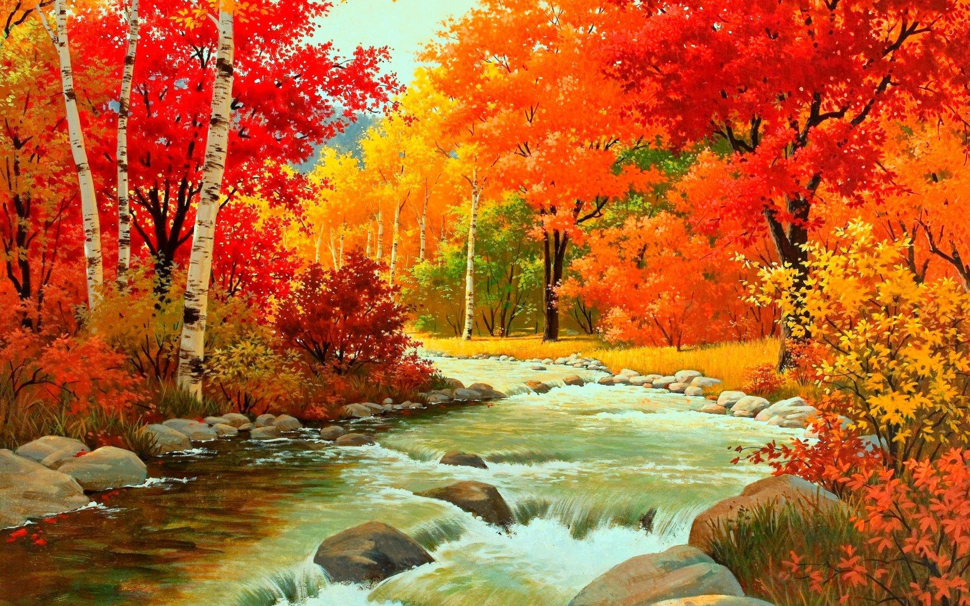 Поздравление мужчину, картинка на золотую осень