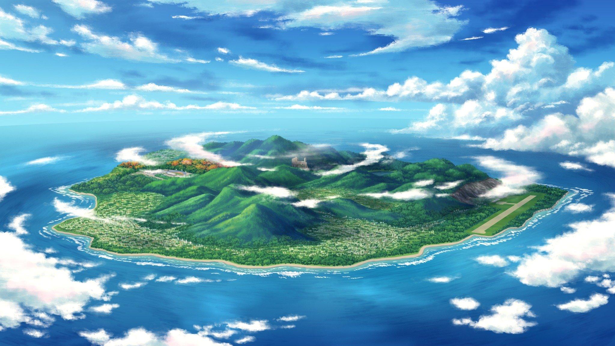маленькие острова среди гор  № 253176  скачать
