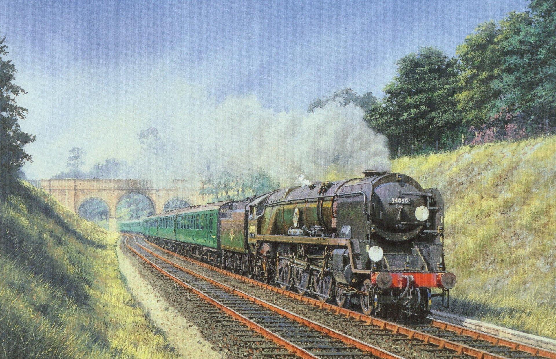 Дню, поезд картинки красивые нарисованные