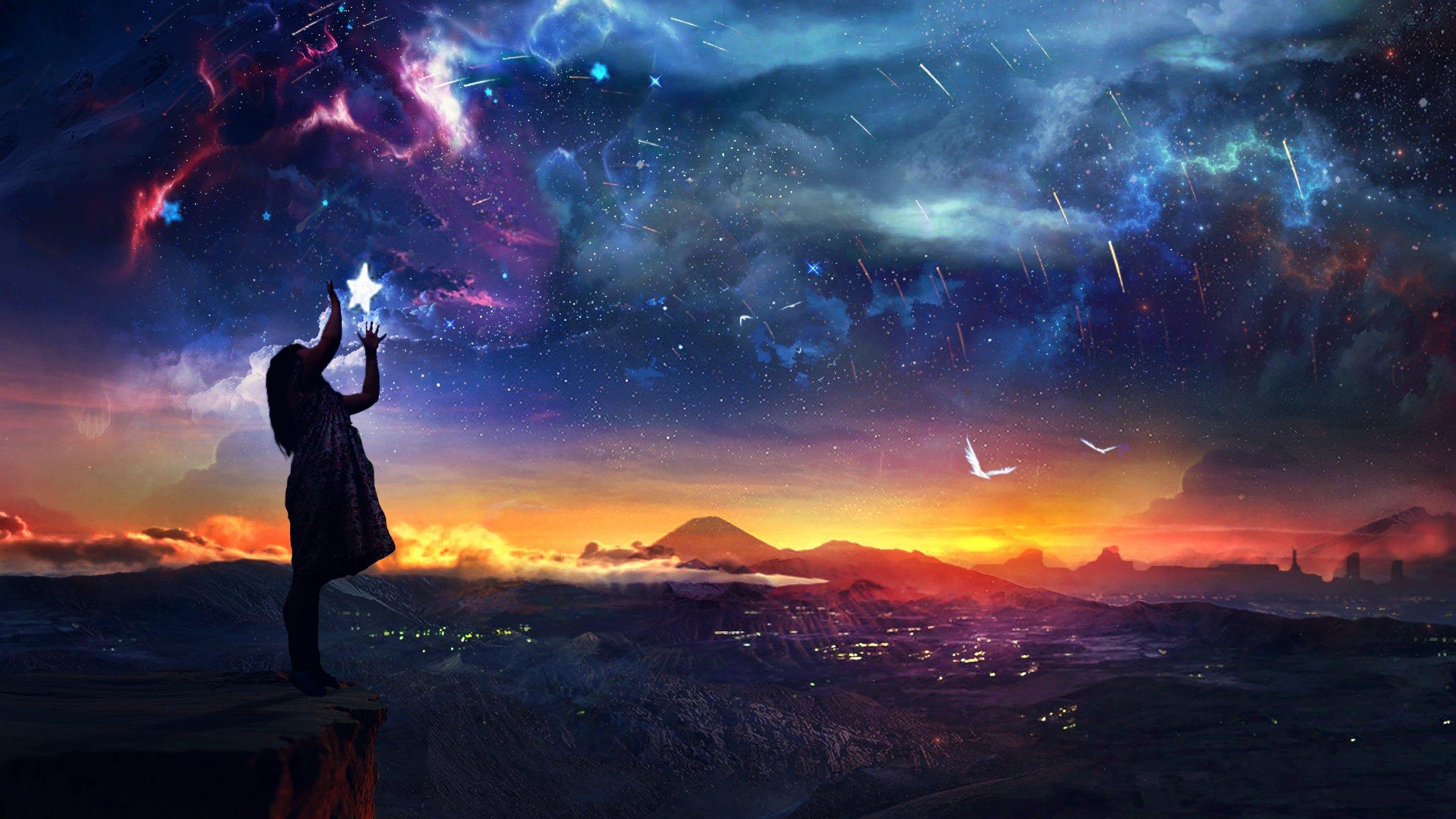 вишневая bmw под звездным небом  № 2384192 загрузить