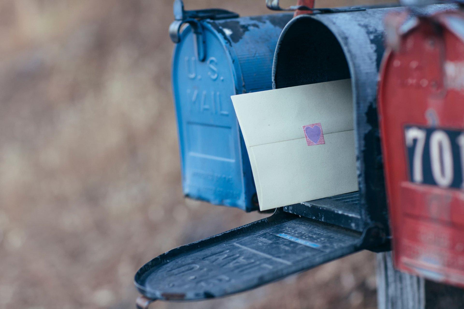 Патент, как послать открытку с ящика