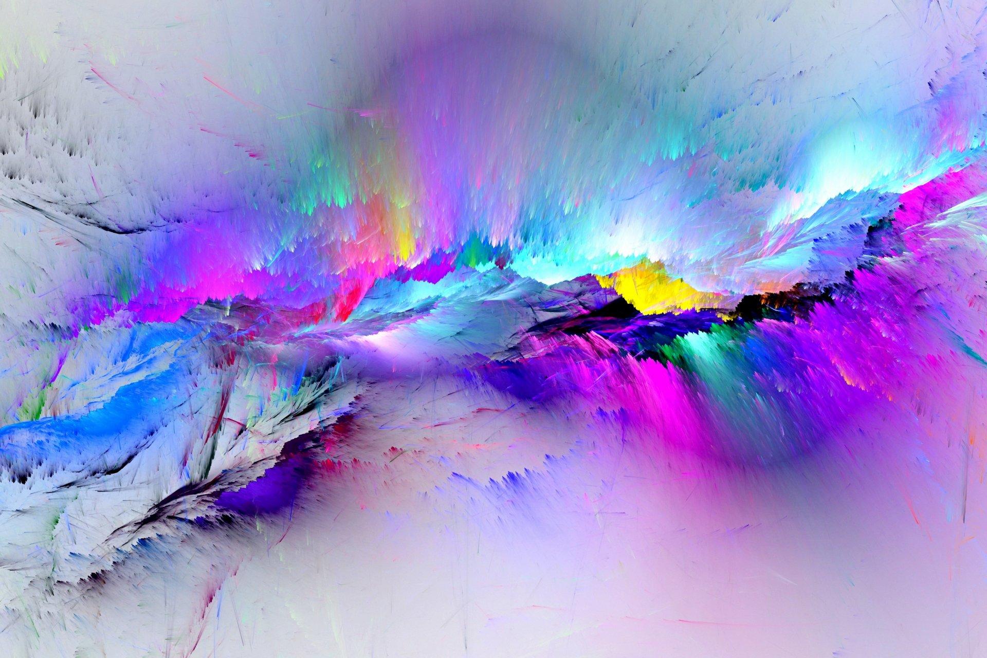 Обои свет, дым, Пятна, краски, яркость. Абстракции foto 12