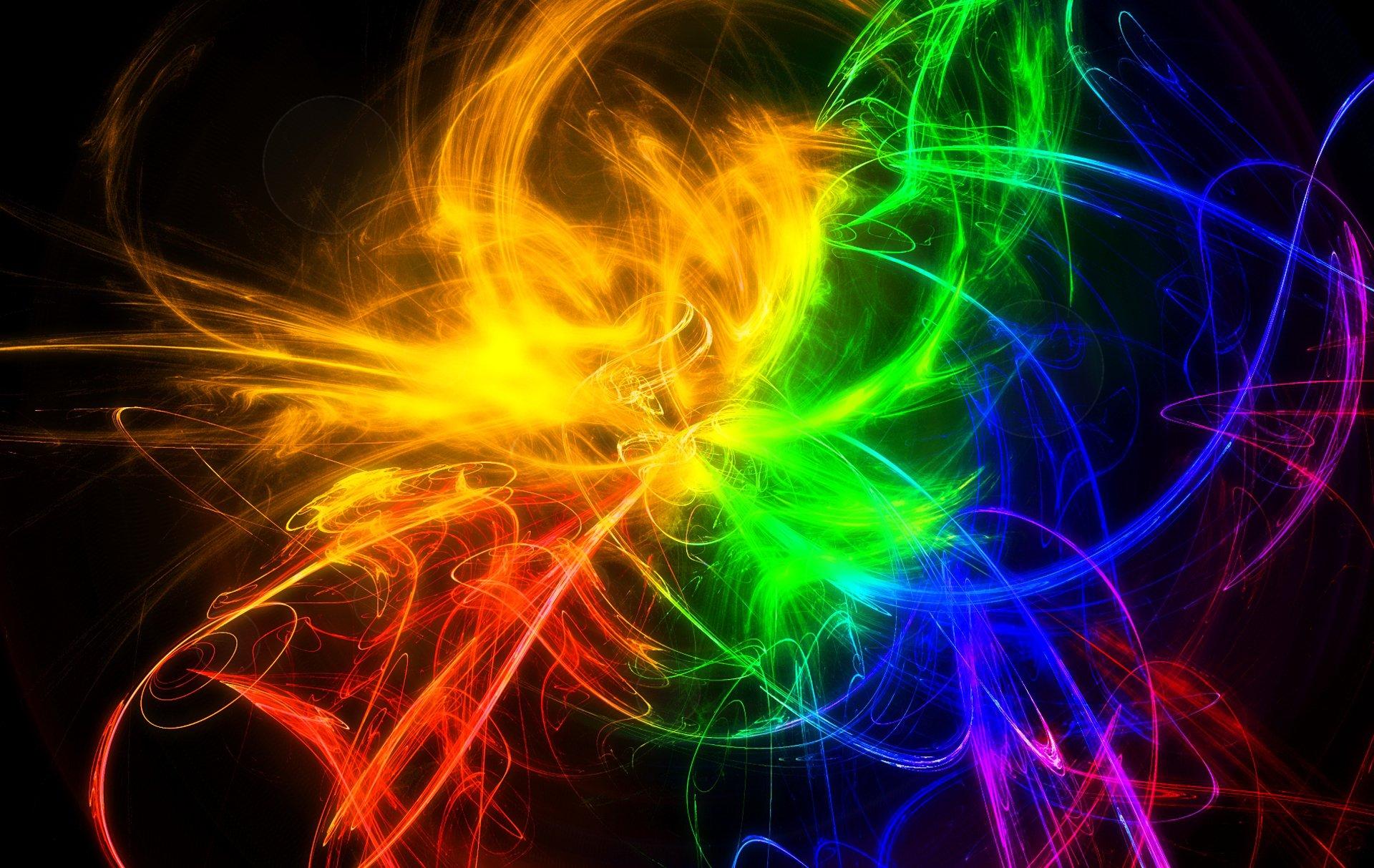 Картинки разноцветного на черном