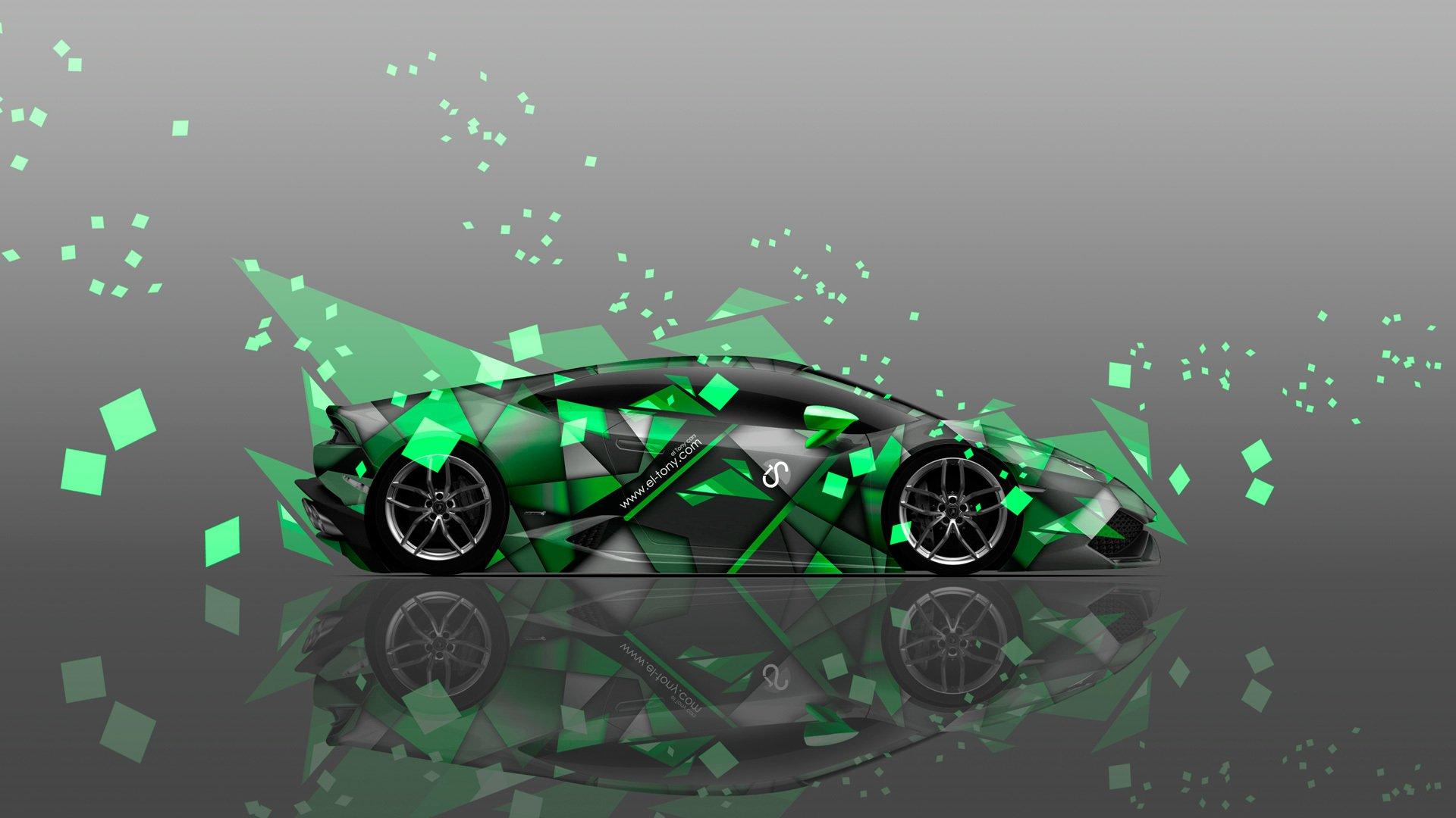 Lamborghini на изумрудном фоне без регистрации