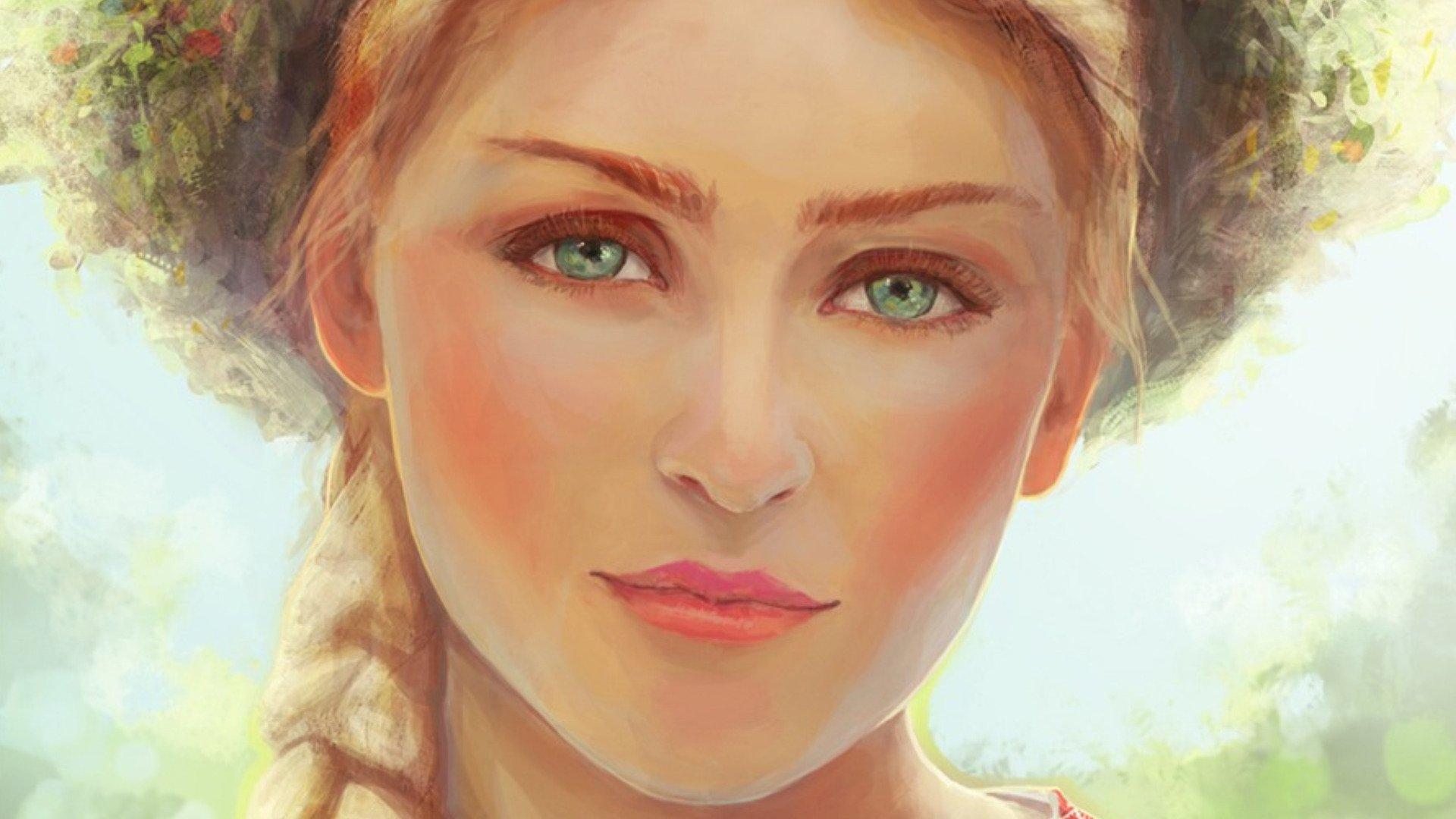 Женщина рисует глазами