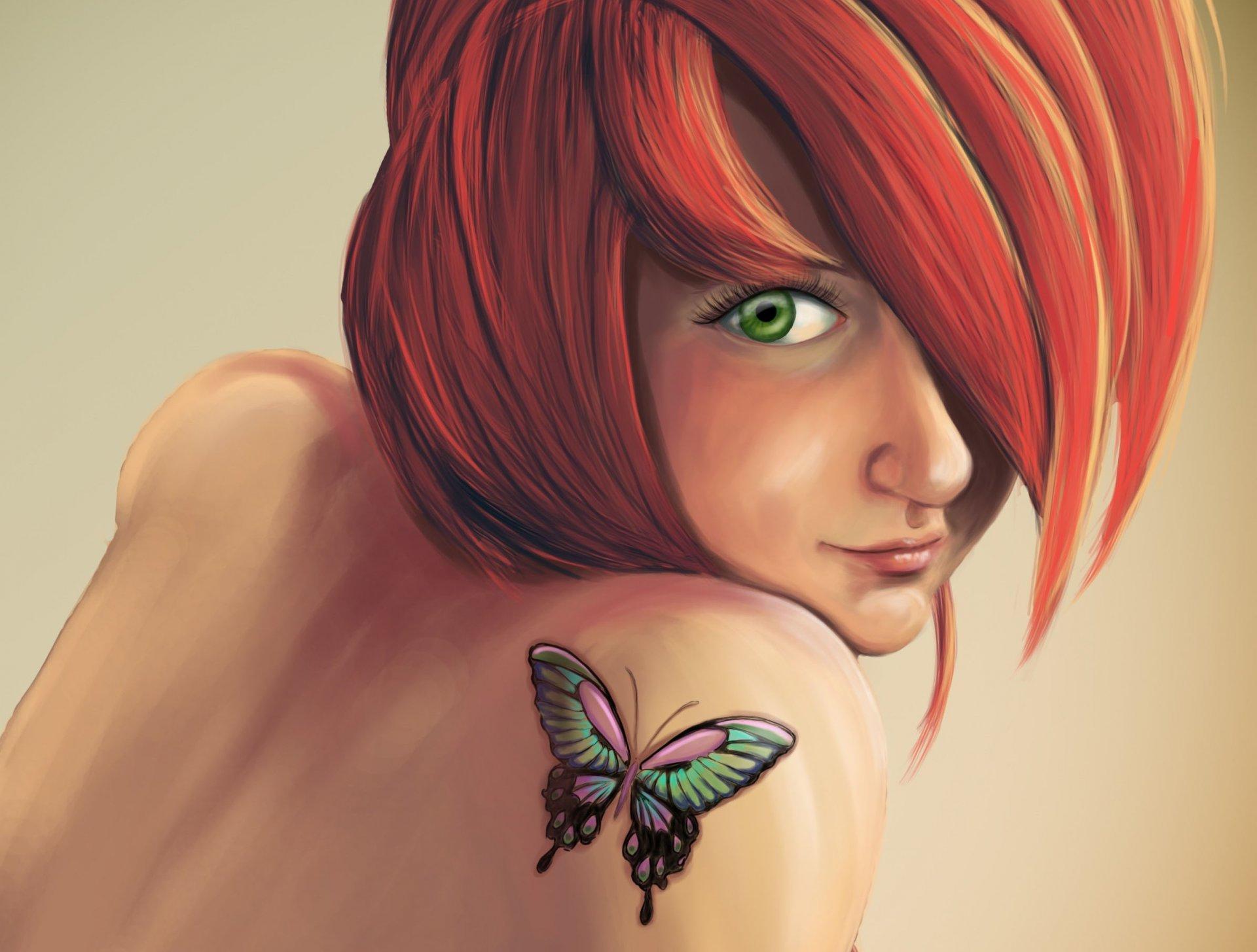 Рыжая девочка картинки мультяшные