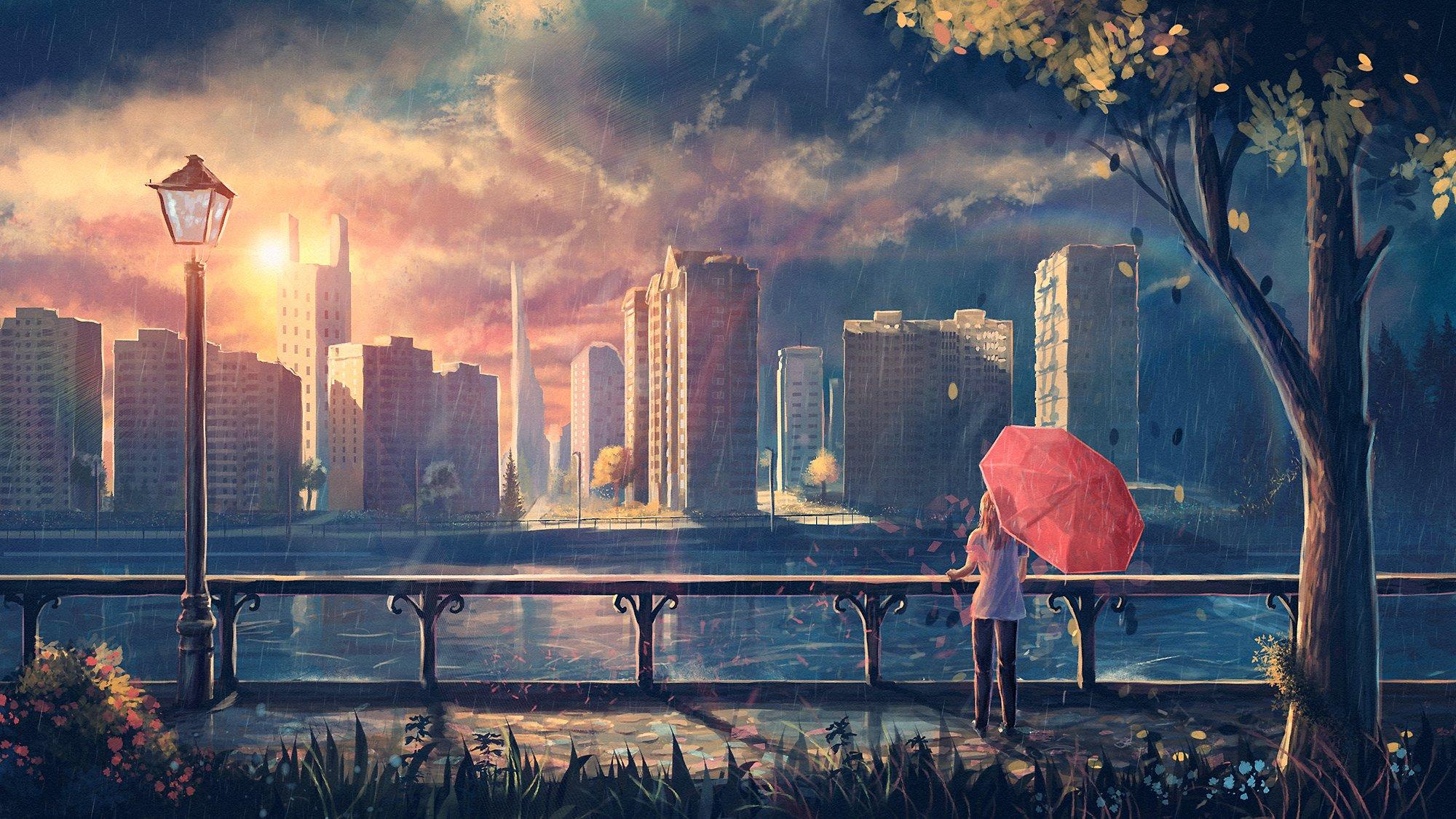 мужчина пристань зонт дождь без смс