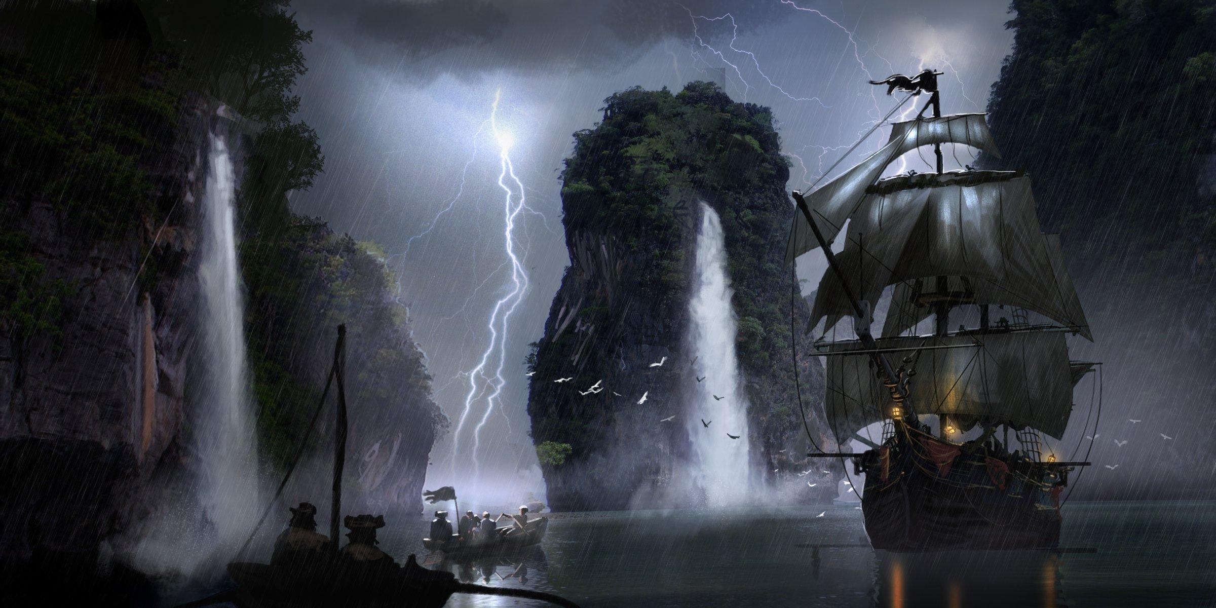 пиратские корабли фото картинки фэнтези него, любой наряд
