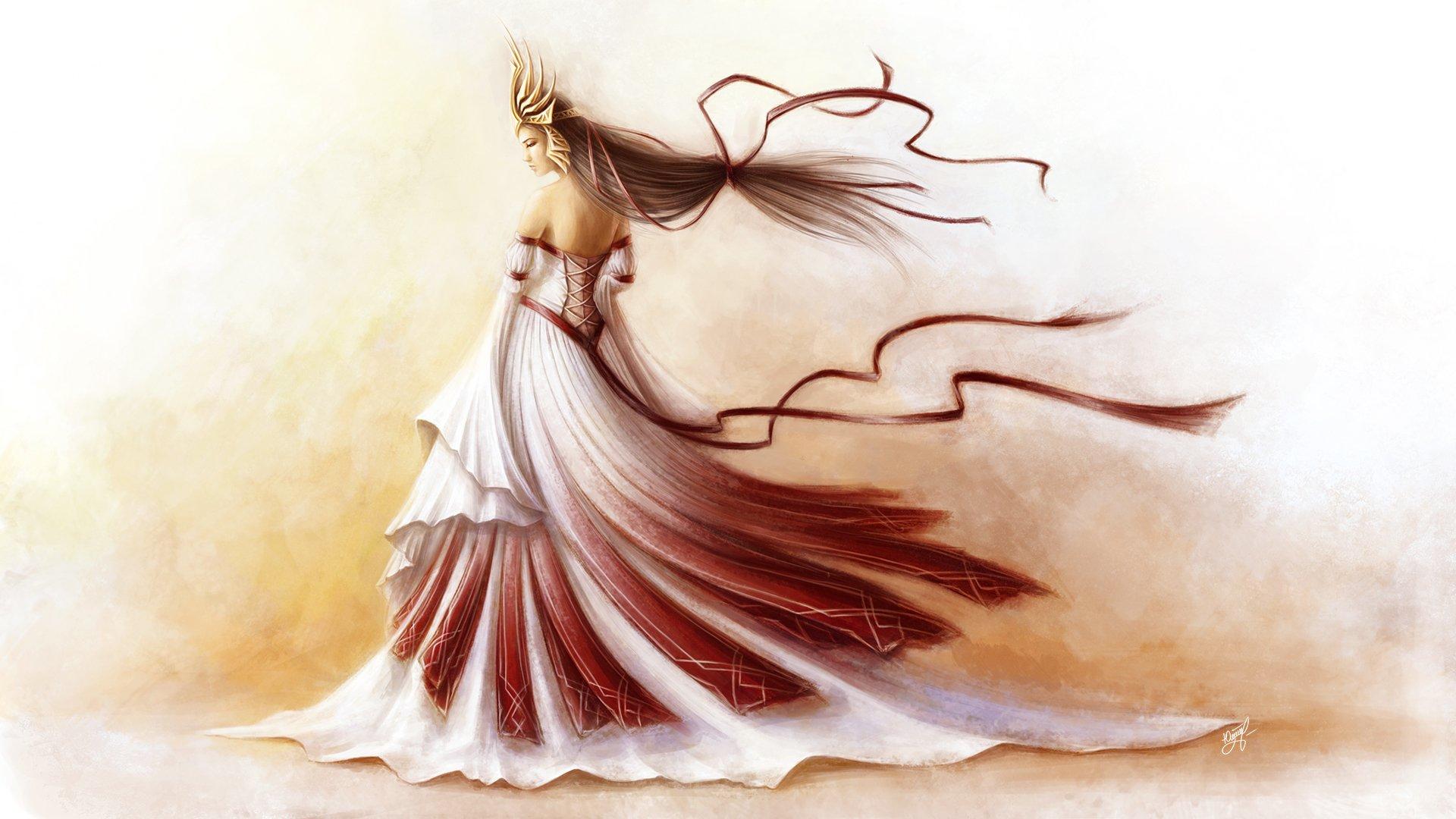 Платье на ветру рисунок