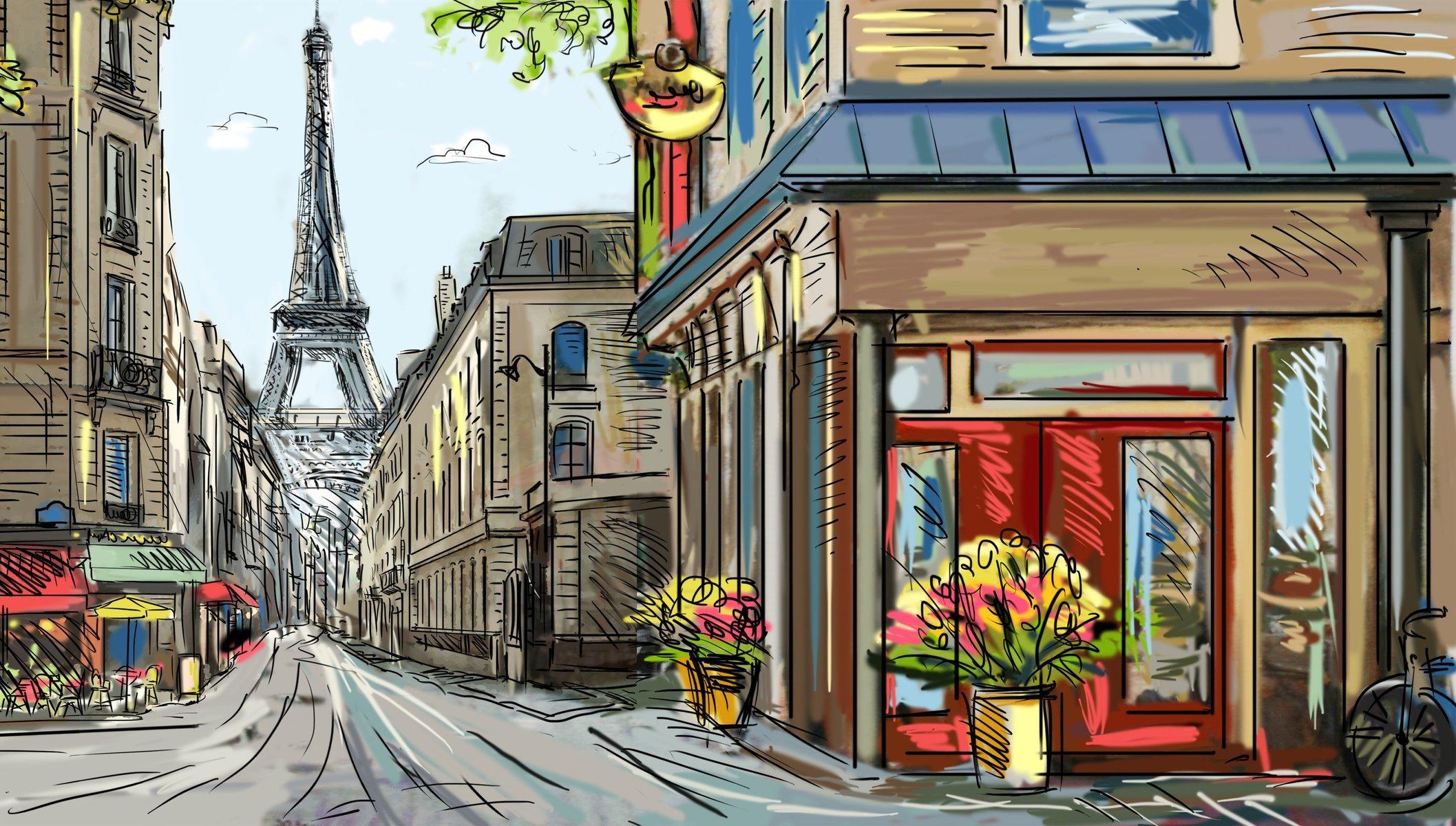 Картинки с рисунком города, собачками смешные