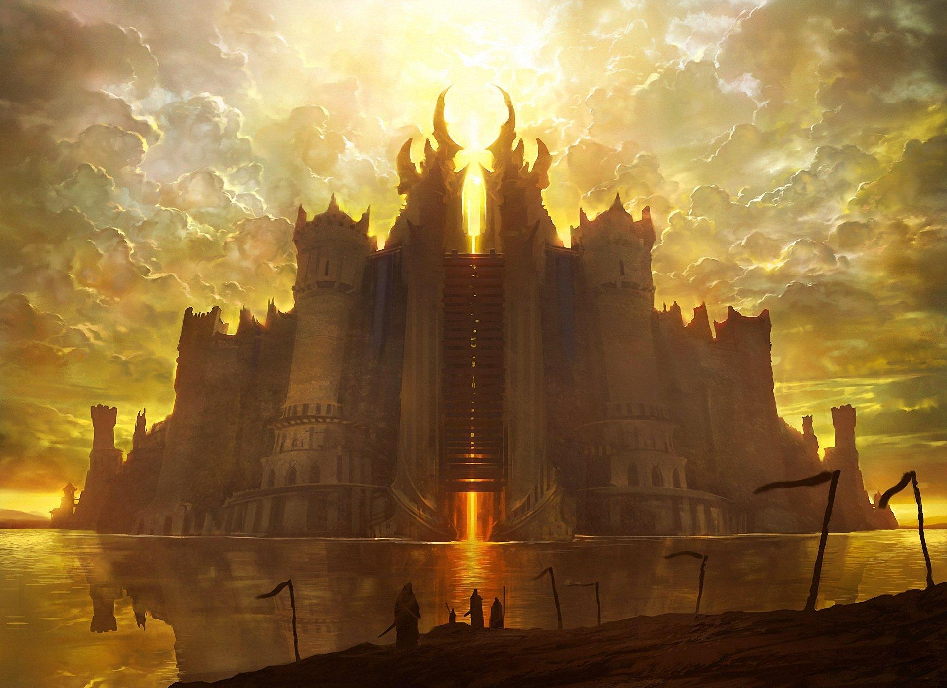 Замок в лучах света  № 917166 бесплатно