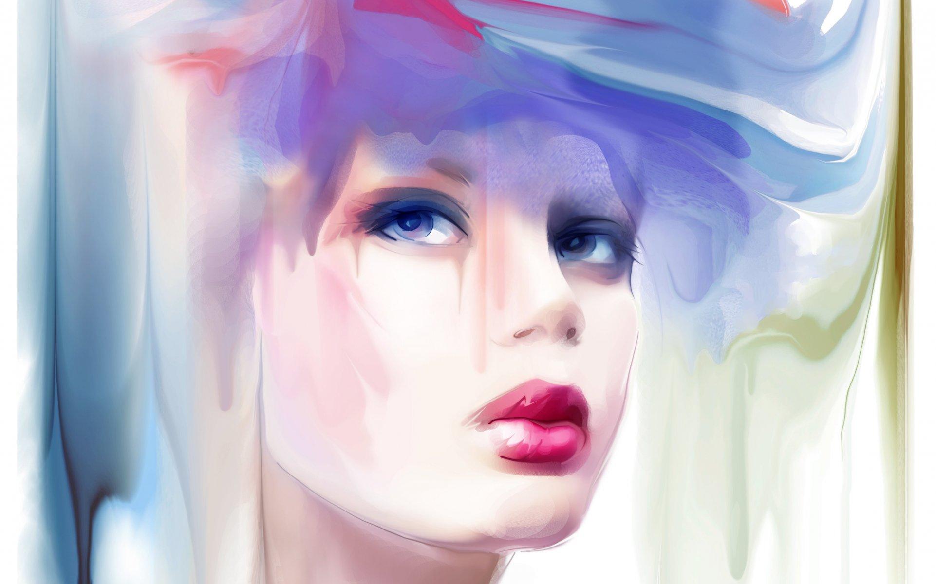 Красивые картинки нарисованные акварелью женщины