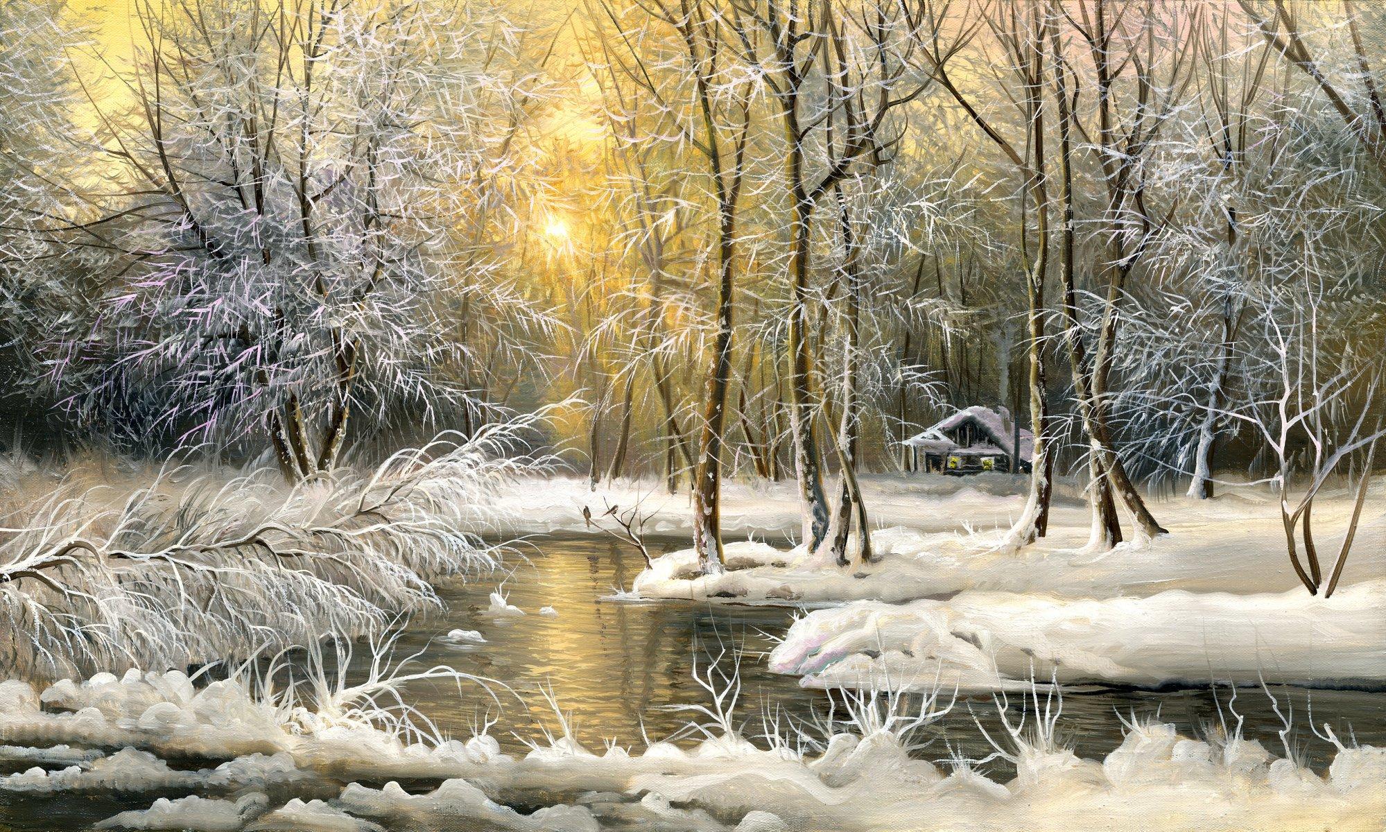 Гифы зимние пейзажи красивые, алый парус открытки