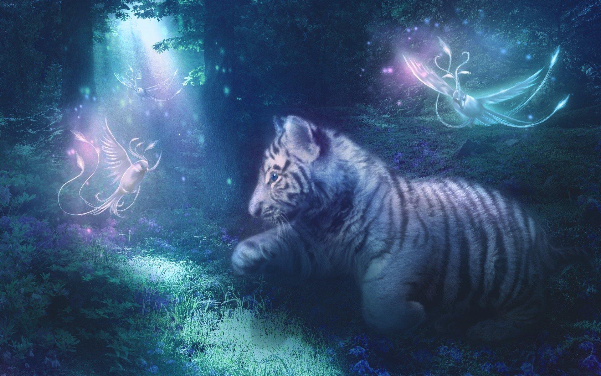 уложенные картинки фэнтези и тигры посещения этого кафе