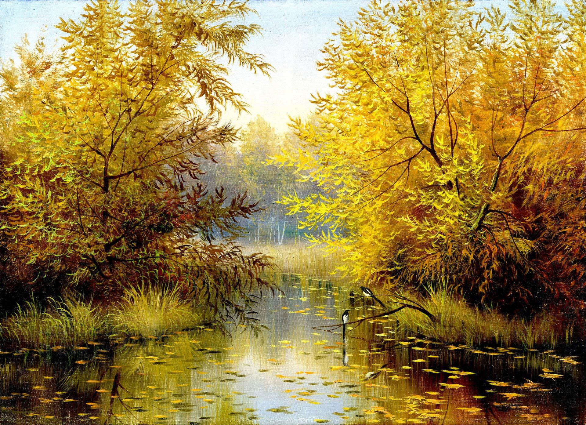 Картинки осенний лес скачать