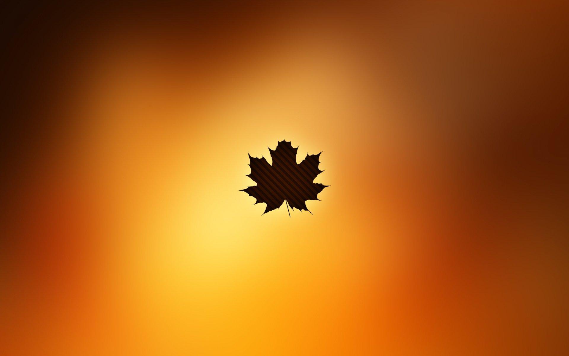 Обои осень, желтый, вектор. Минимализм foto 9