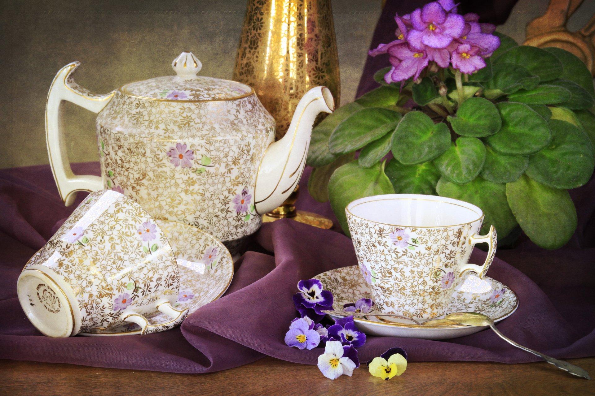 О цветы открытка чайник ней речь