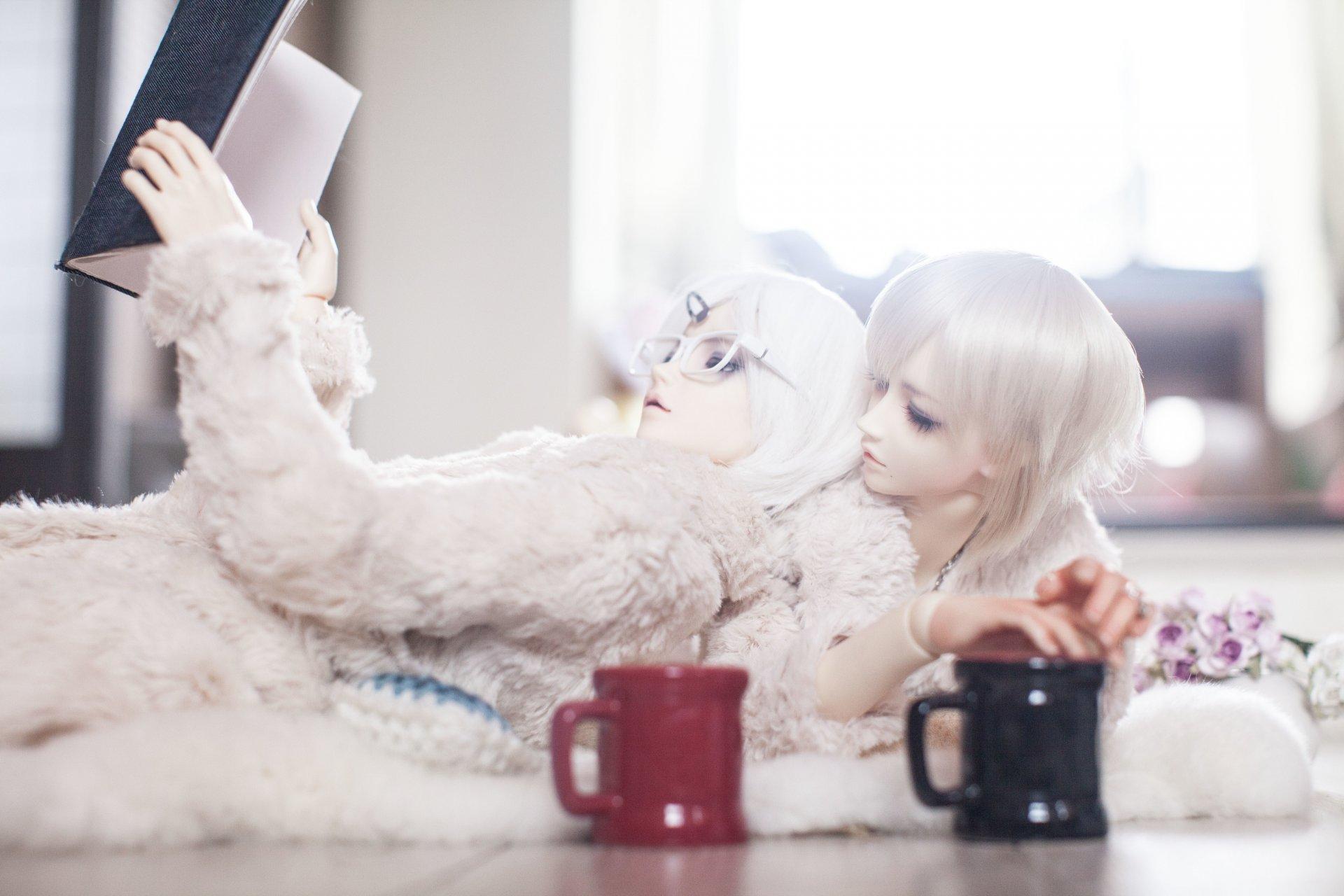 Обои цветы, Кукла, девушка, волосы. Разное foto 12