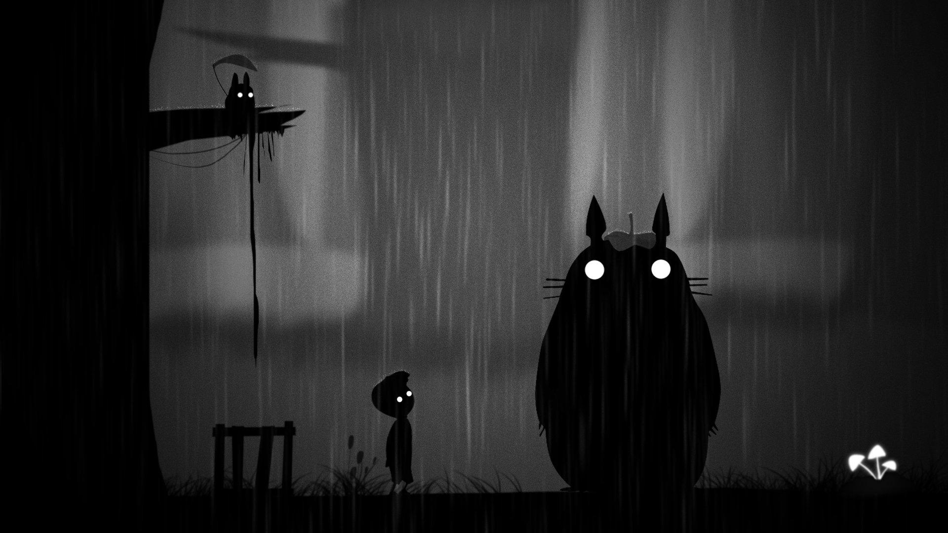 Обои limbo. мальчик, ночь, дождь. Разное foto 15