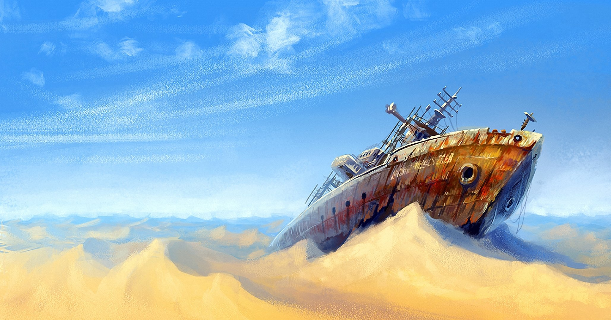 Лодка в пустыне без смс