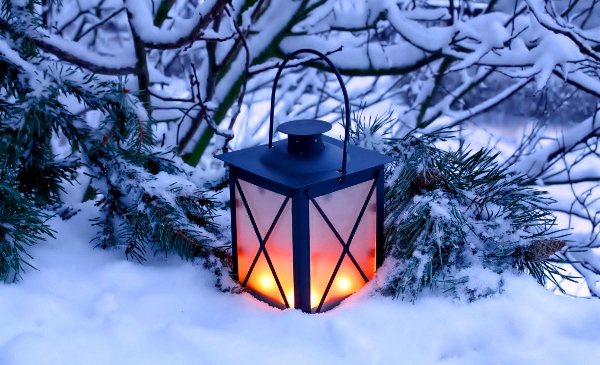 Картинки новогодние фонарики красивые