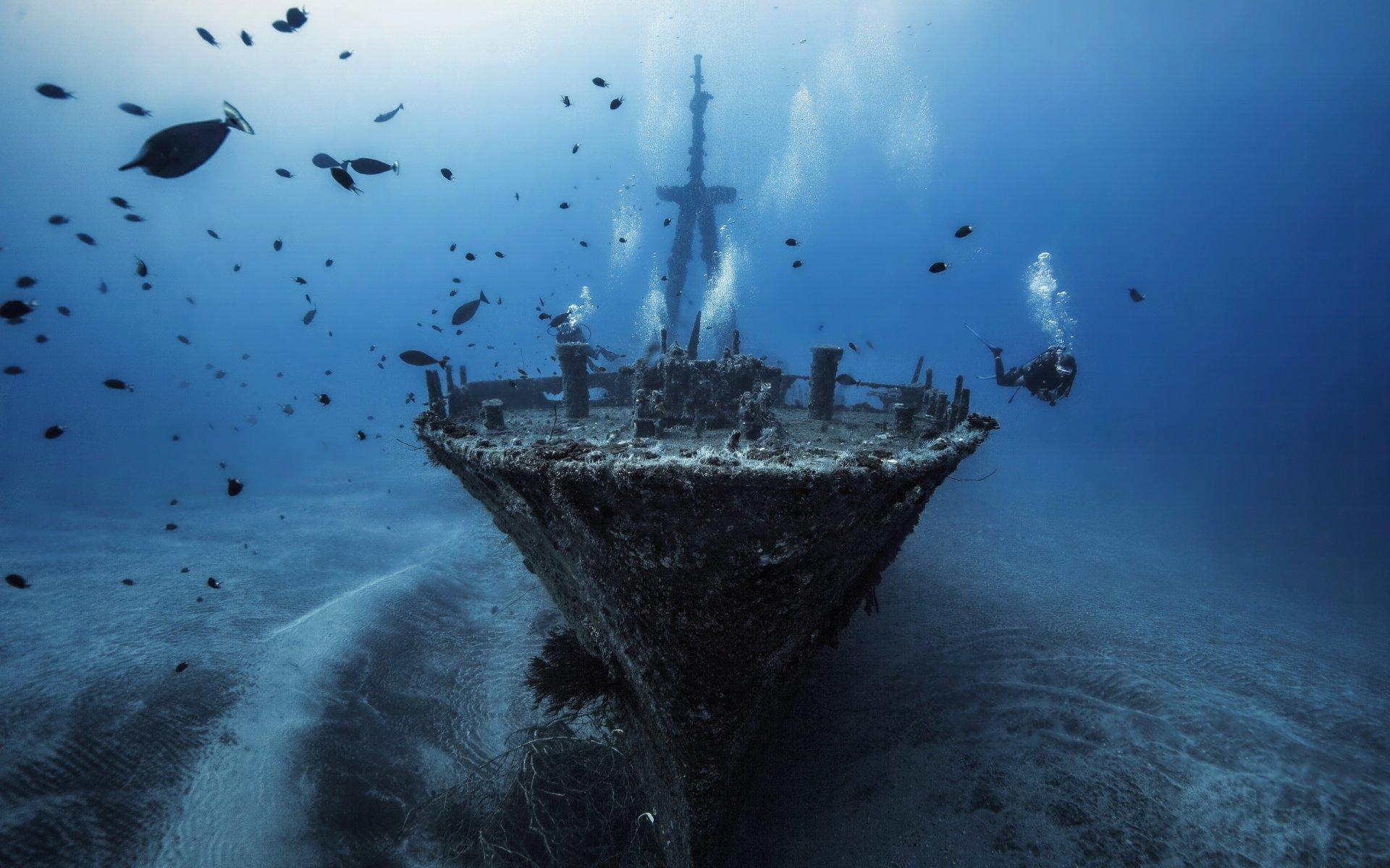 Корабли на дне картинки