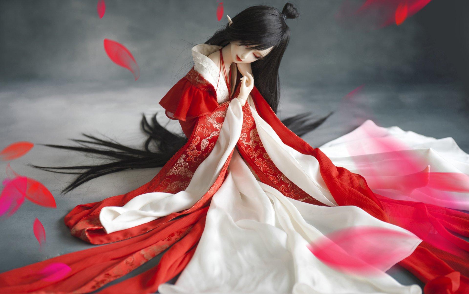 Обои японка, зонтик, Кукла. Разное foto 17