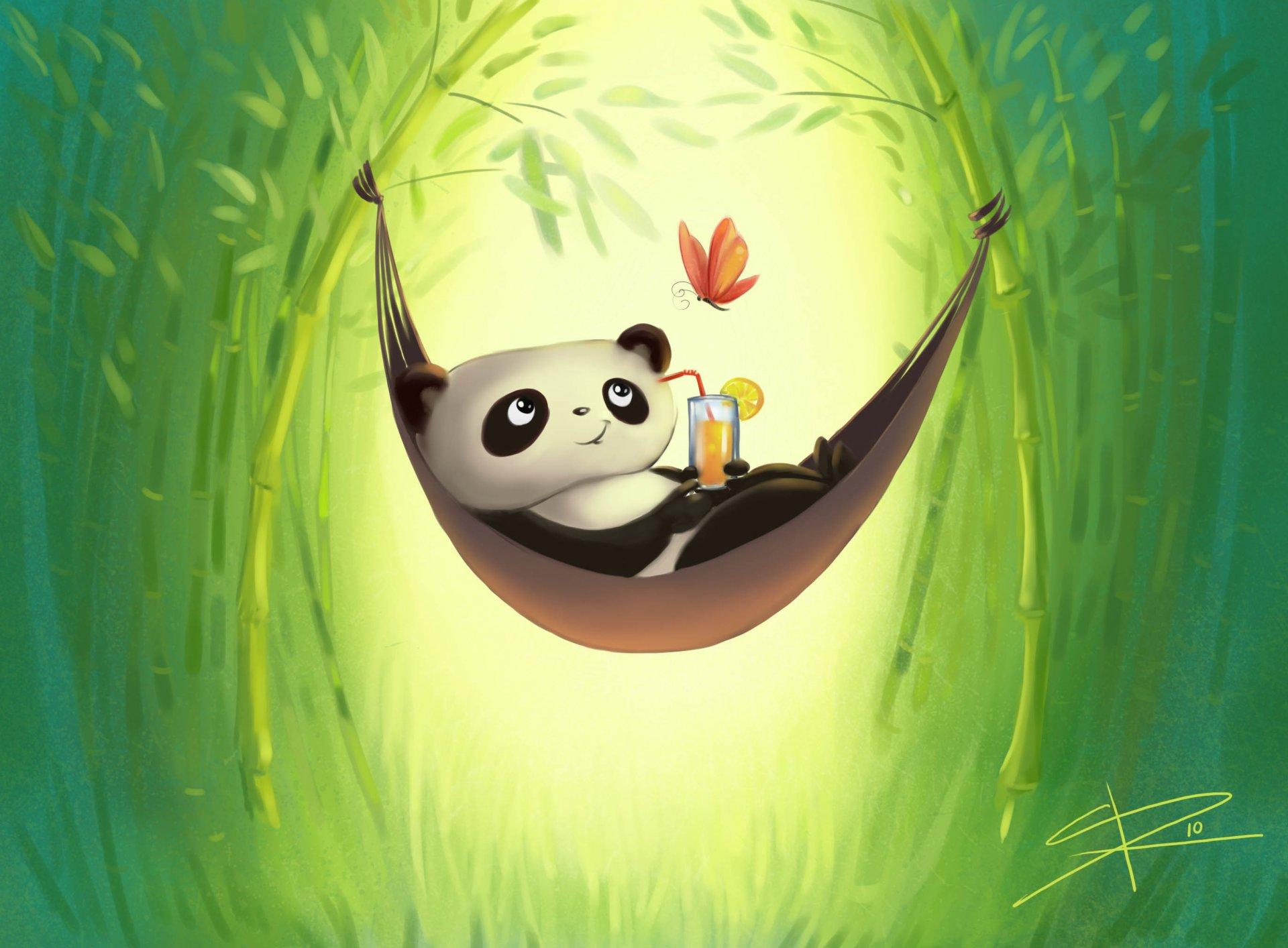 Красивые для, панда рисунок смешная