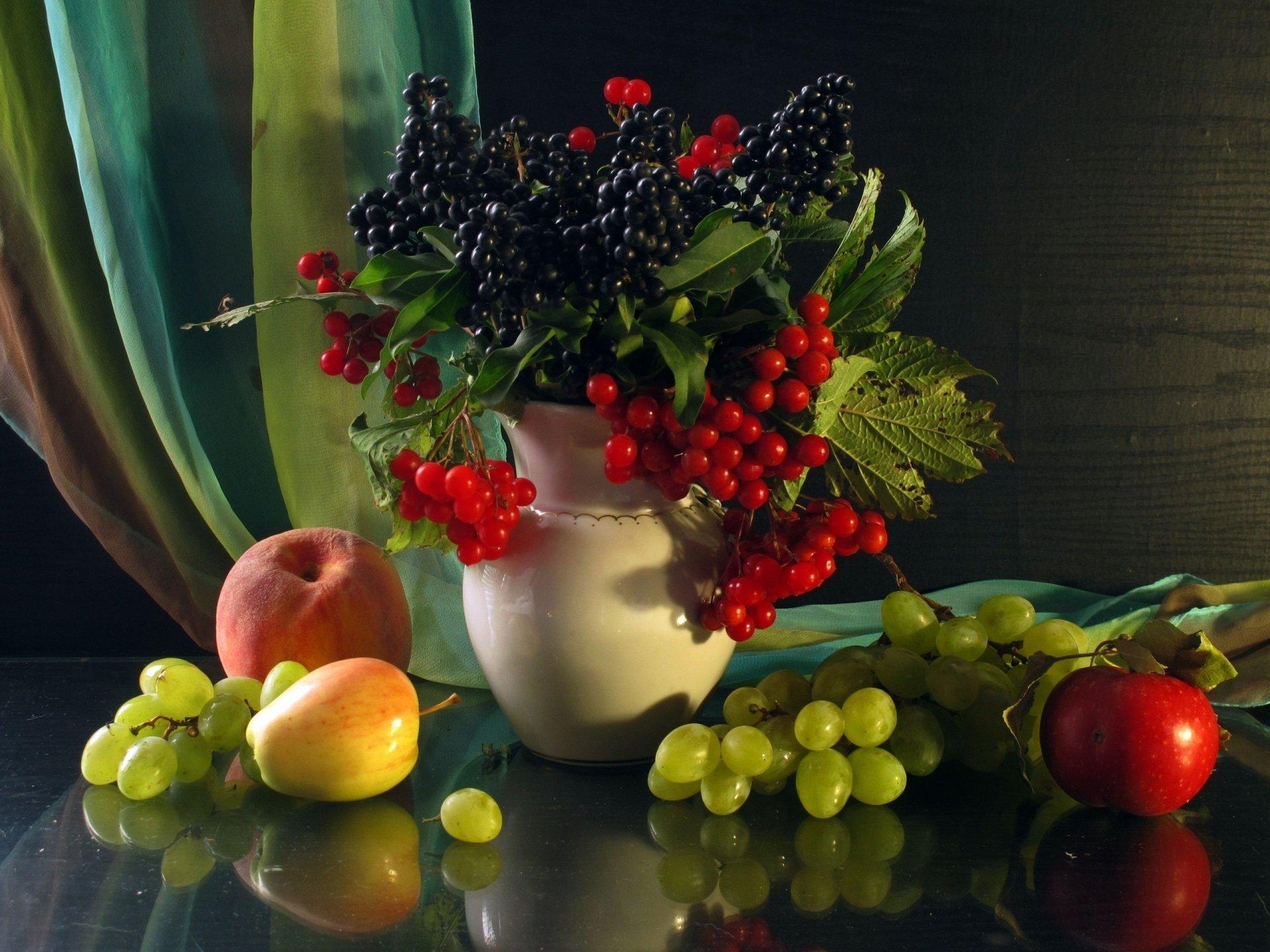 Обои фрукты, натюрморт, кубок, яблоки, цветы. Разное foto 13