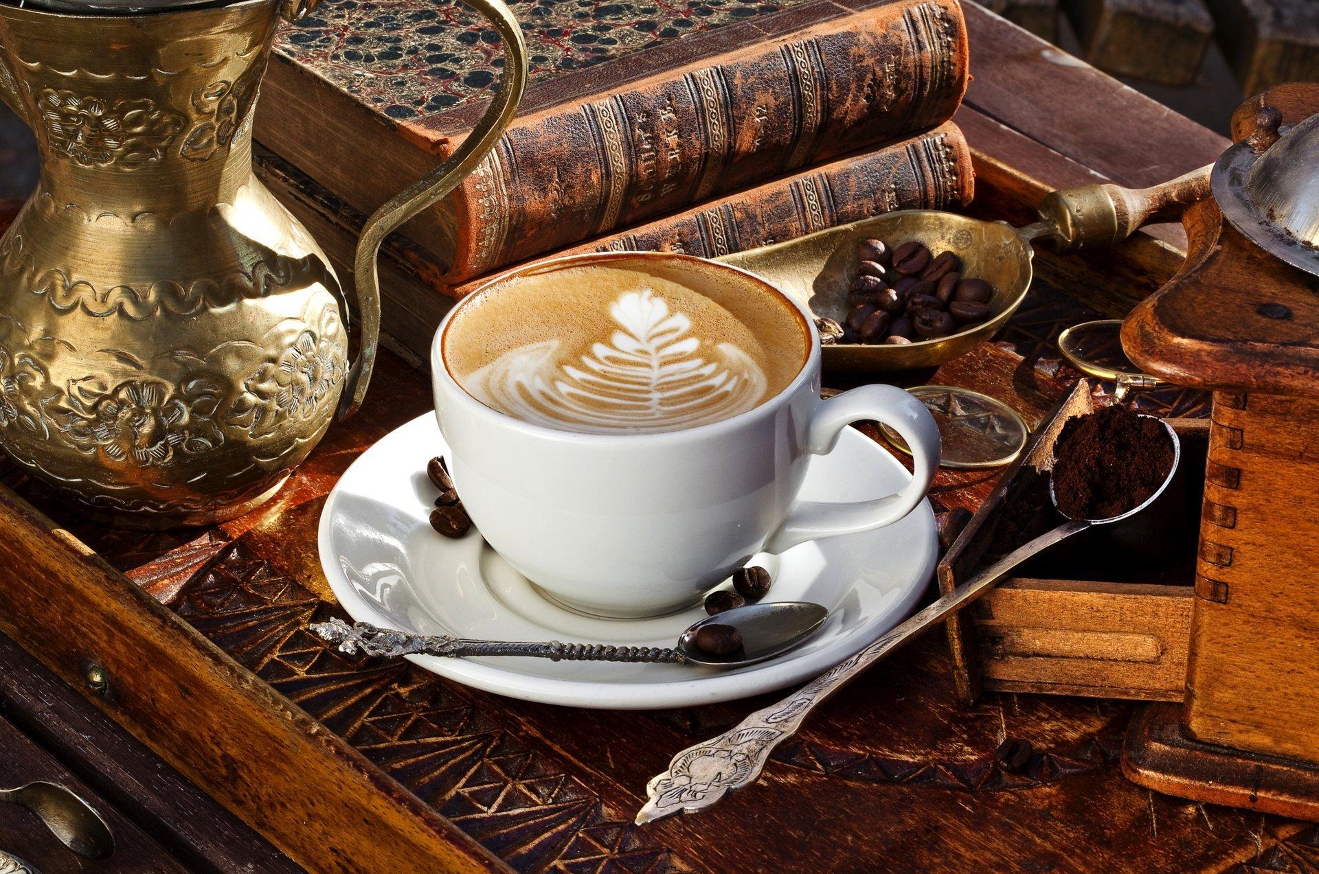 Обои кофе, зерна, стол, ложка. Разное foto 14