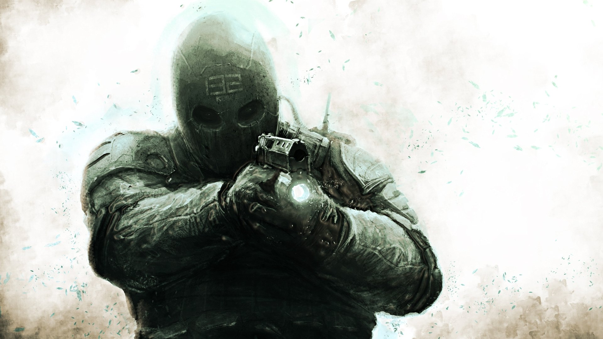 Солдат в маске анонимно