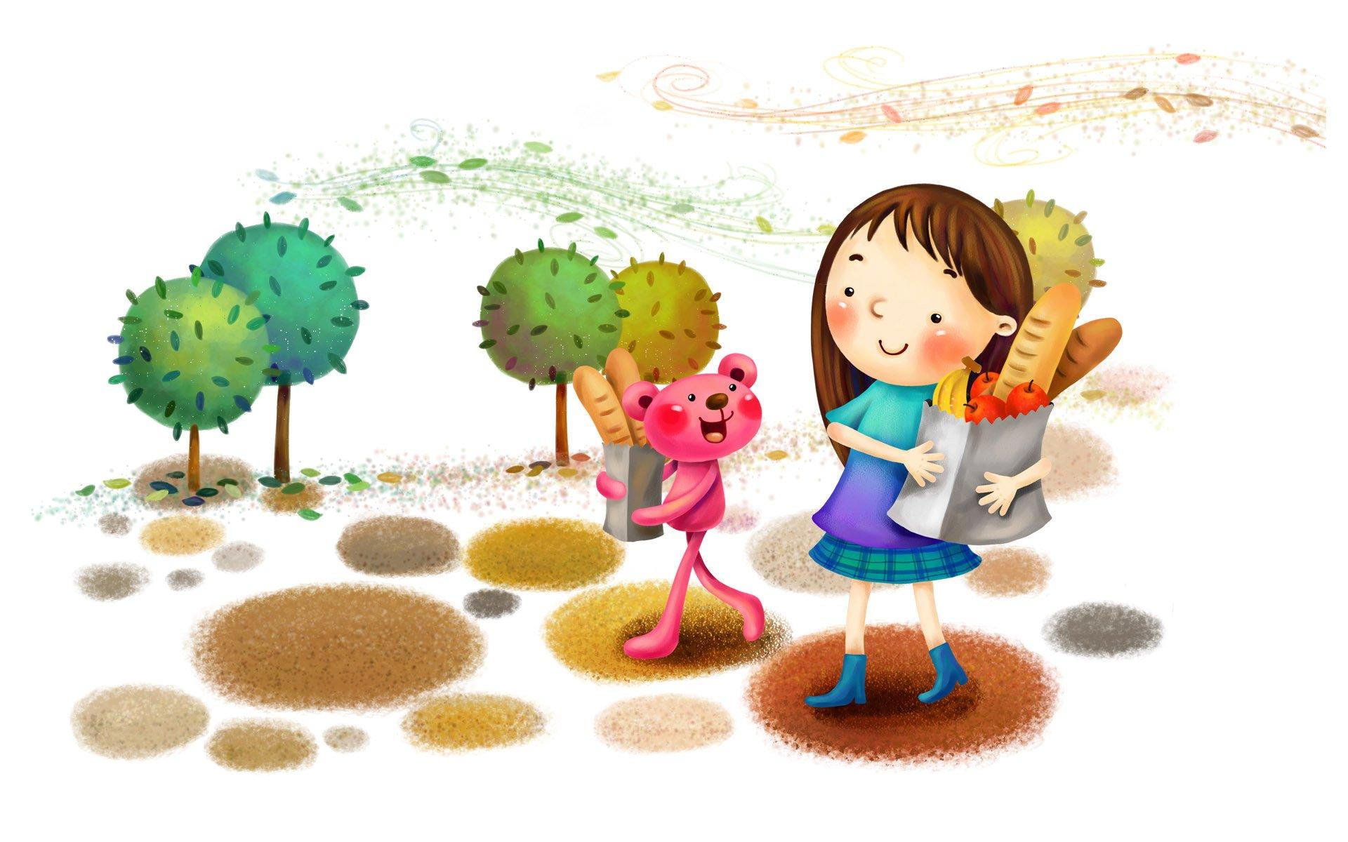 Веселые детские картинки про рисование
