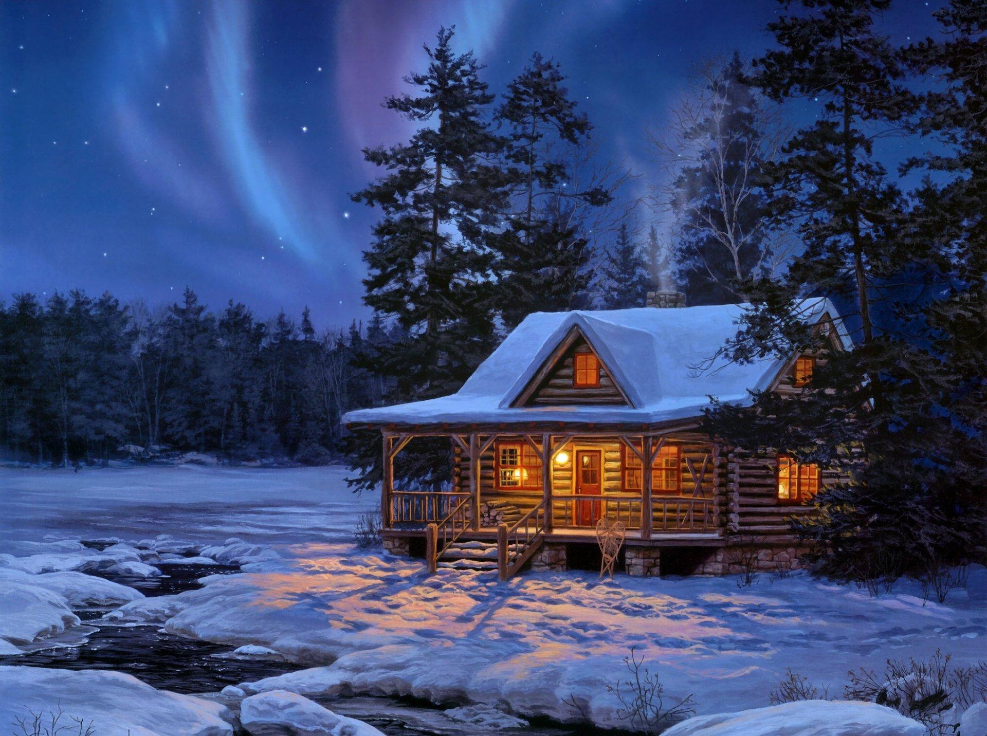 Сказочный зимний вечер фото