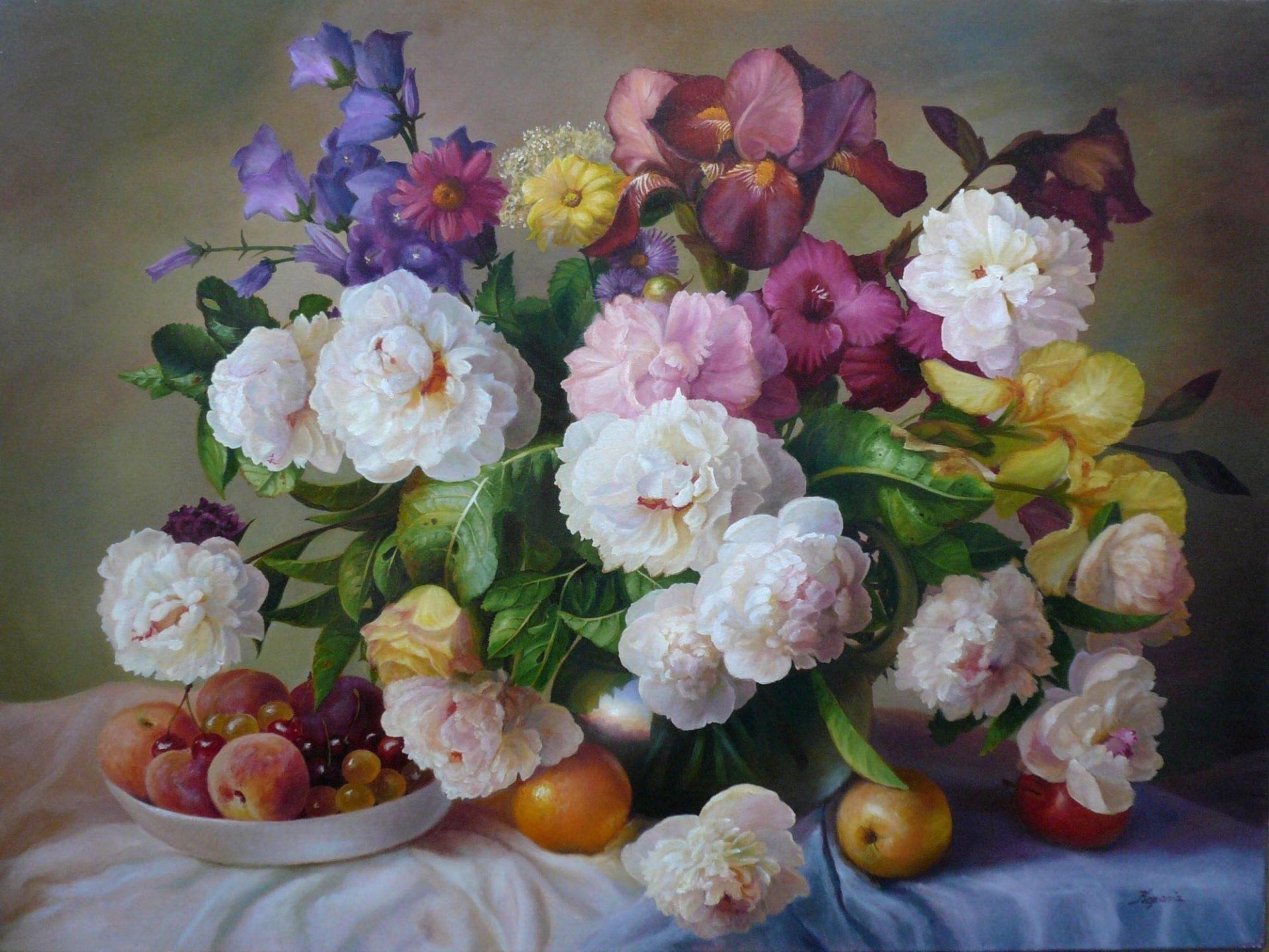 Цветы репродукция фото