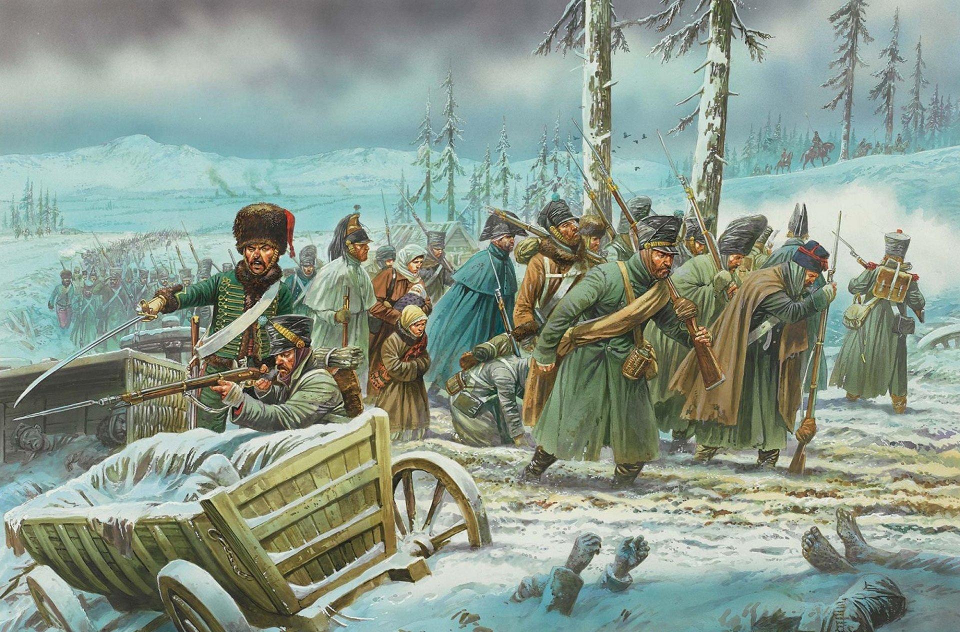 картинка отступление армии наполеона название