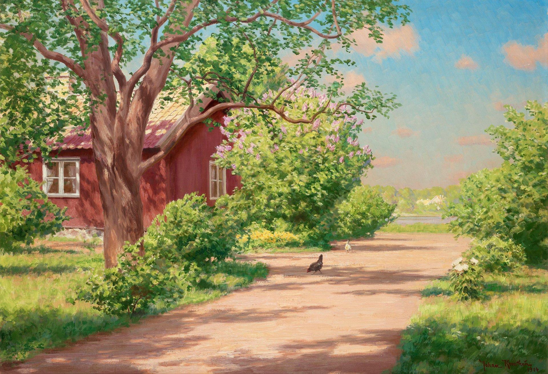 Открытка мая, картинки деревня летом на рабочий стол