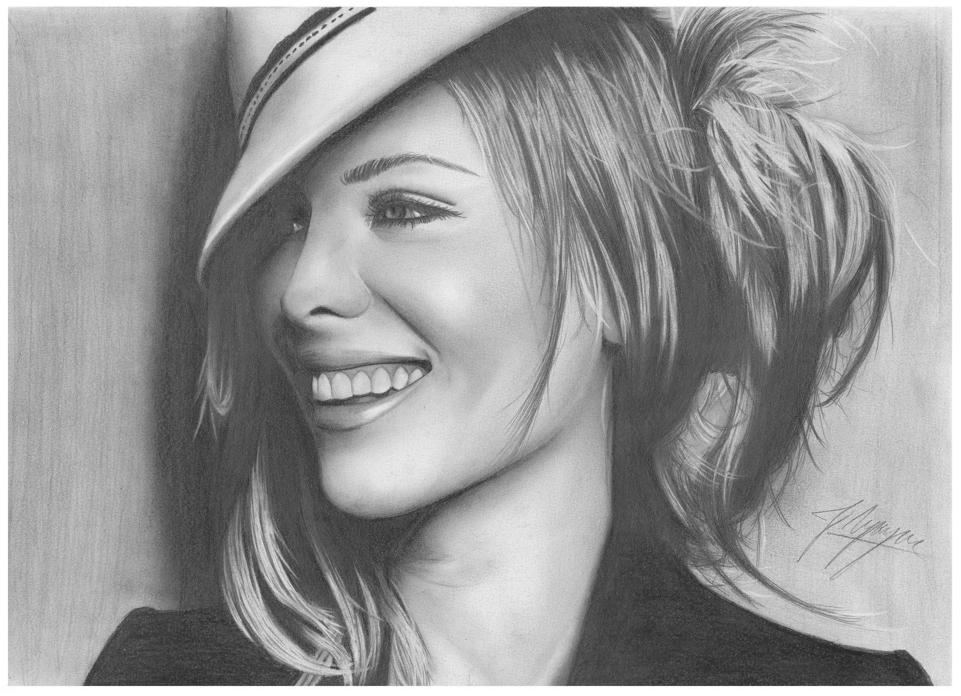 Обои шляпа, девушка, улыбка. Разное foto 13