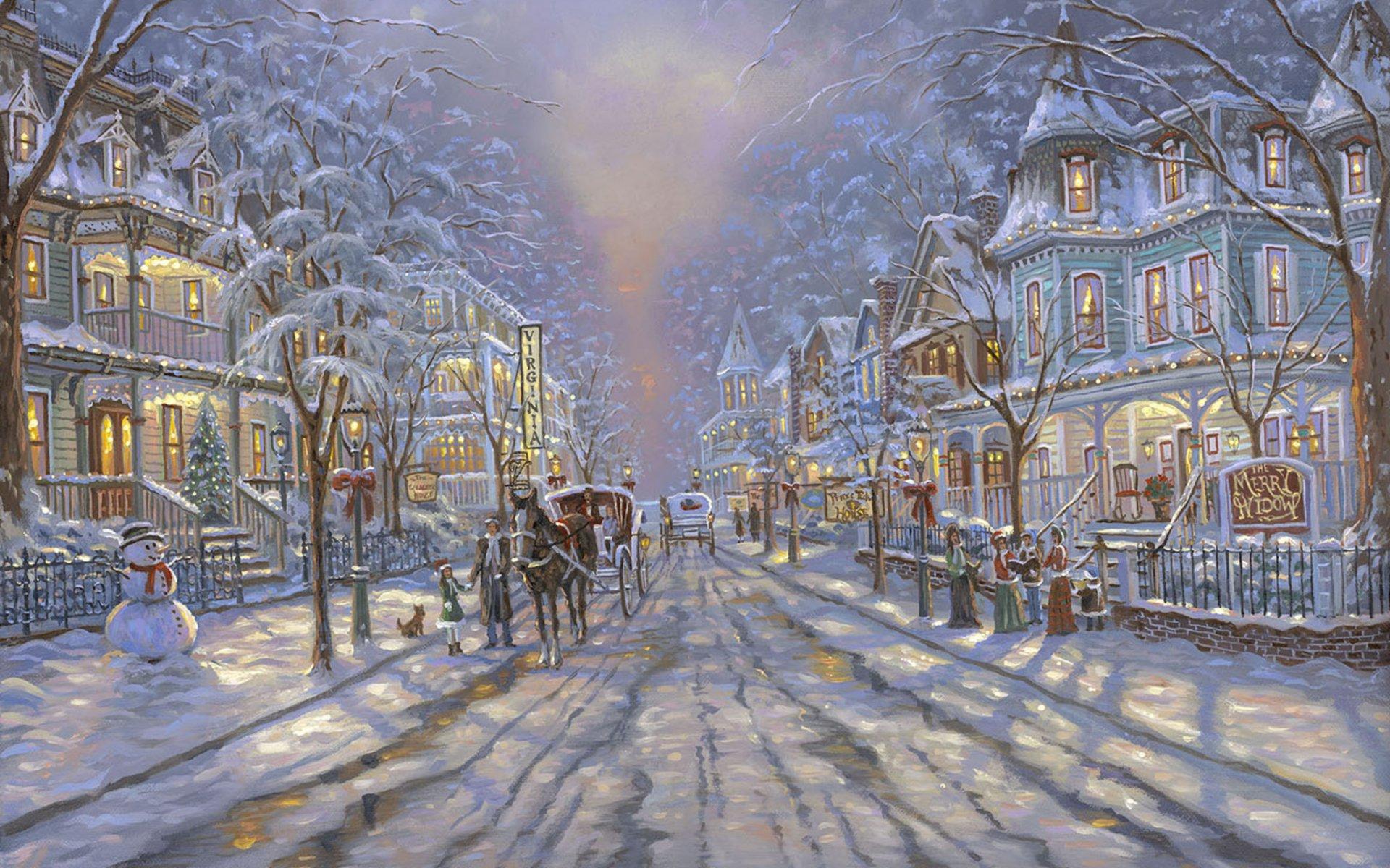 Открытки зима город, самый лучший