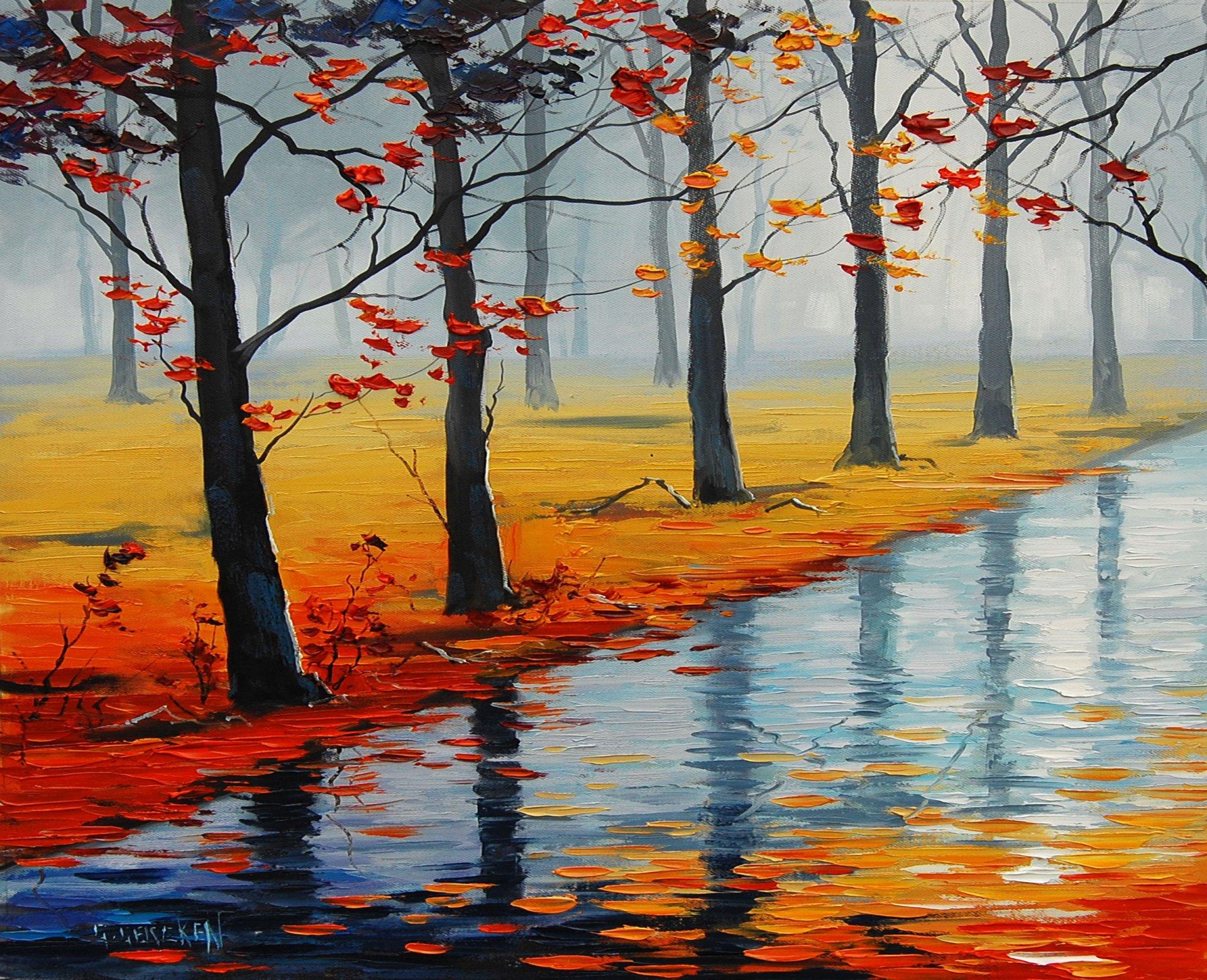 Картинки про природу осень и зиму острове