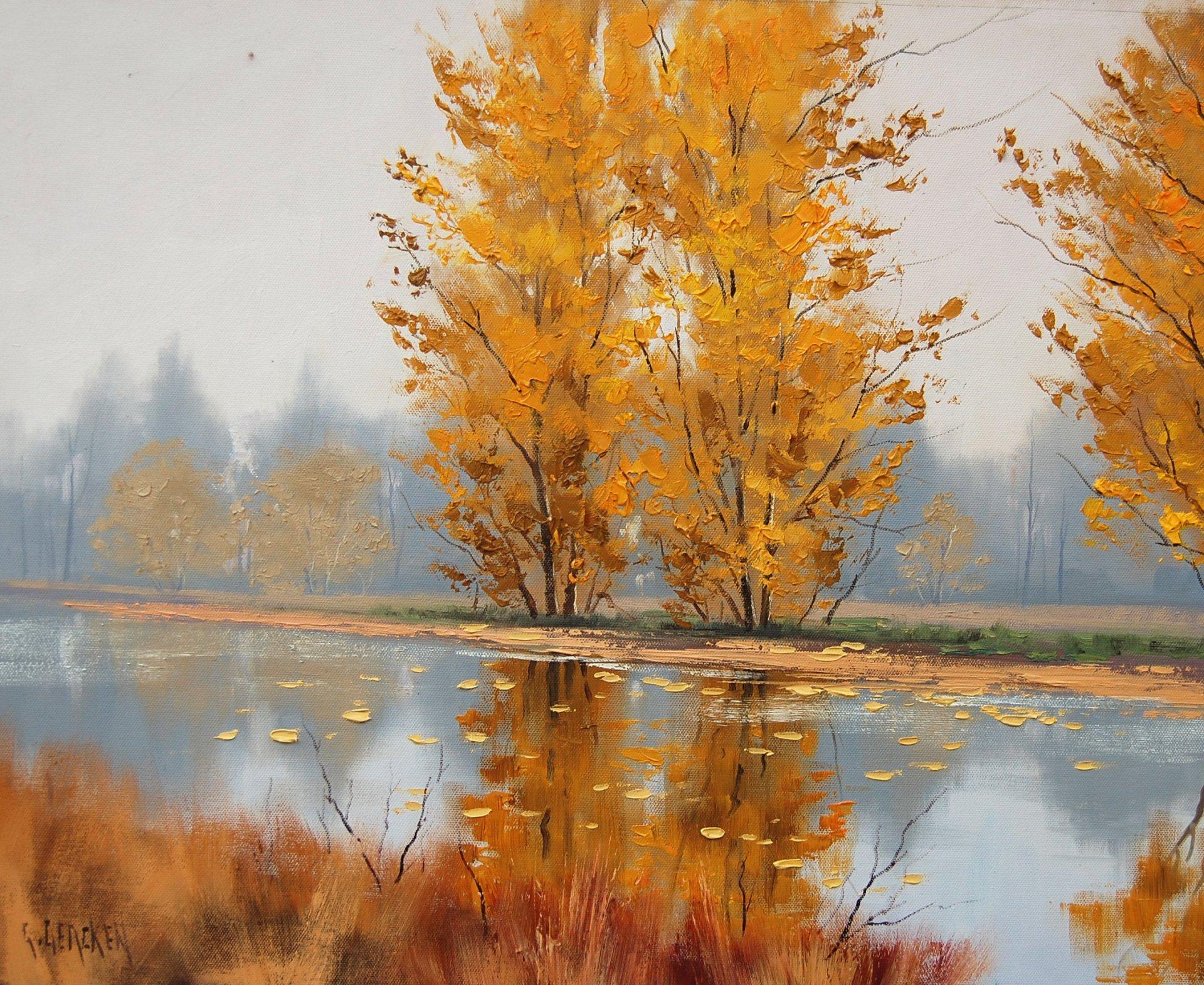 Открытка для, картинки пейзажные осень