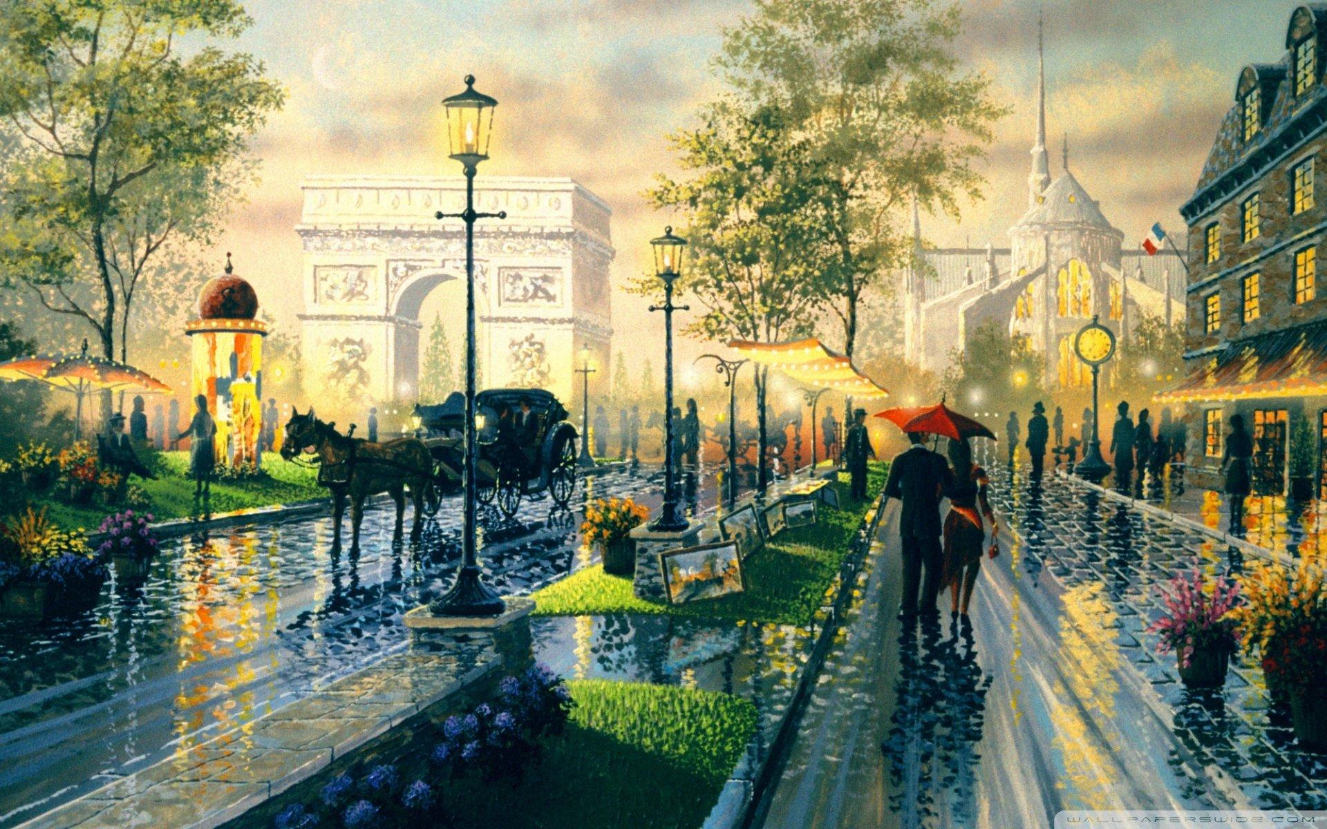 Картинки городских пейзажей