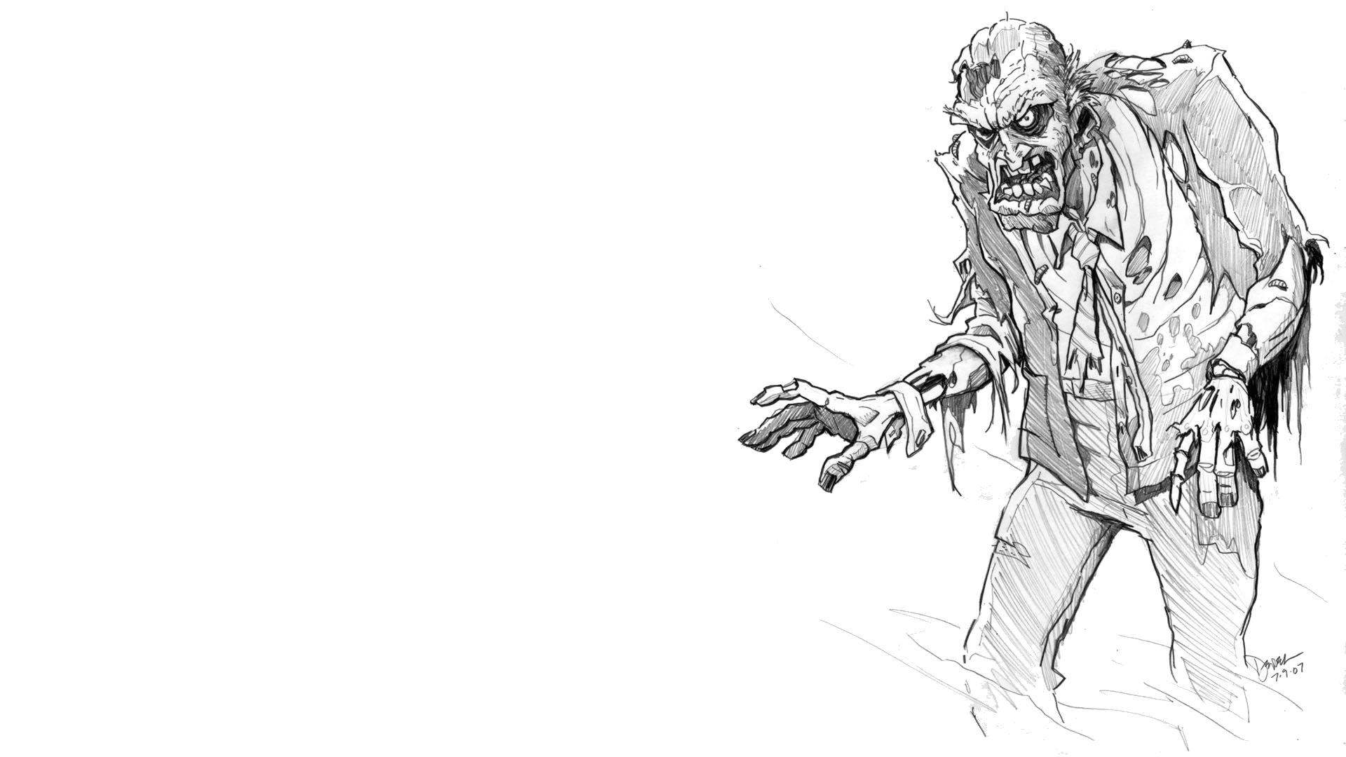 зомби апокалипсис рисунки карандашом восьмилетнюю