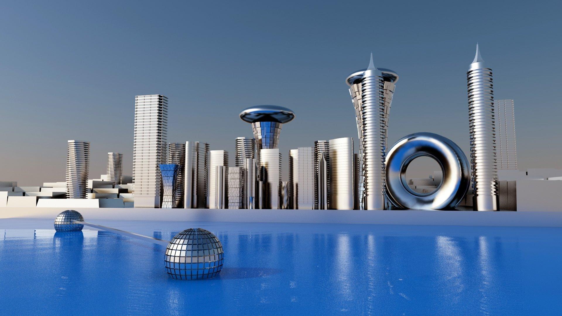 future architecture cities - HD1920×1080