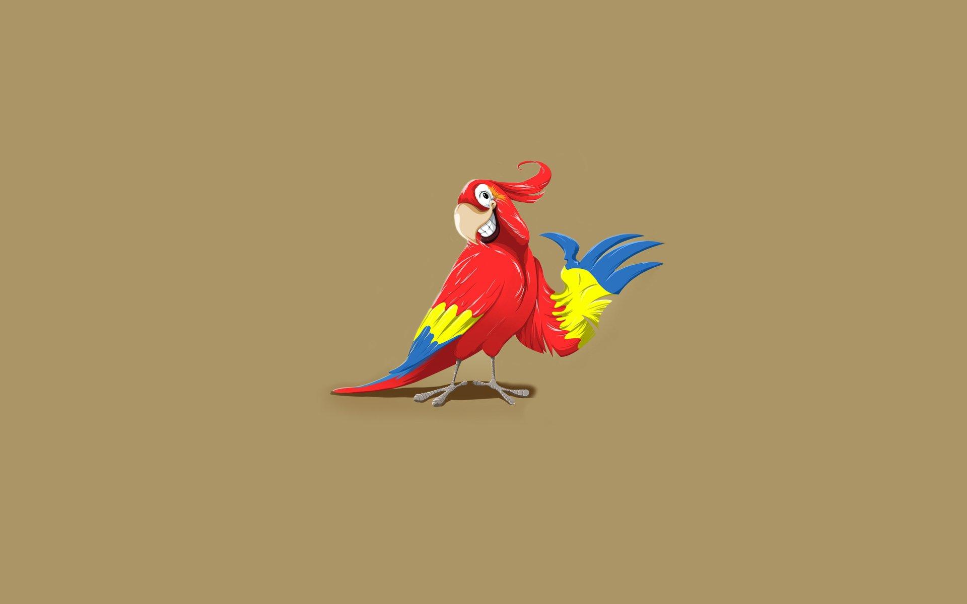 Смешные рисунки про попугаев, днем