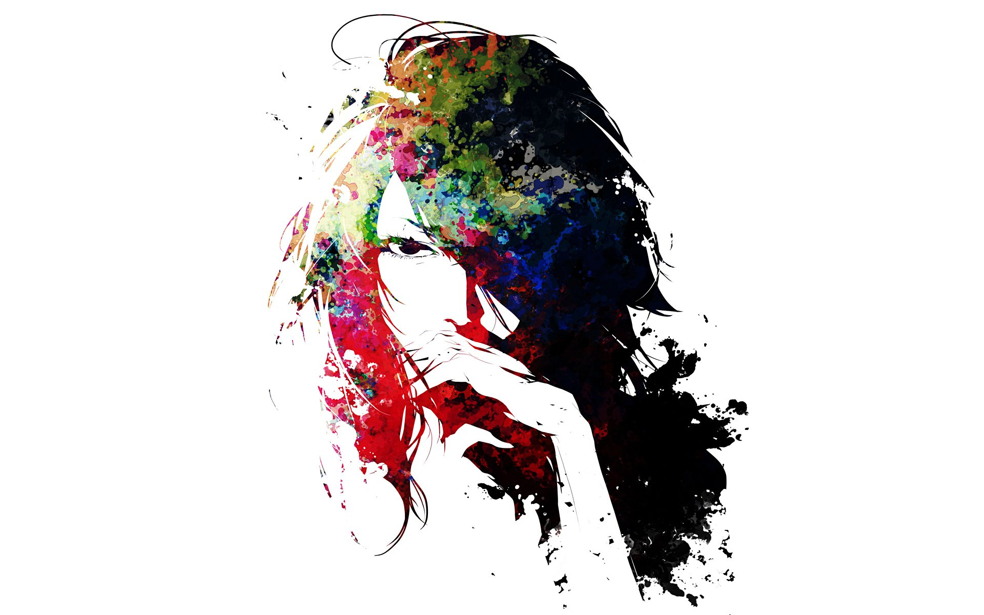 Силуэт лица девушки без смс