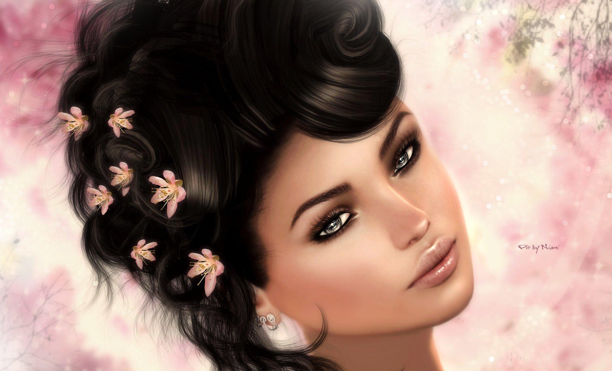 Рисованные картинки женщин на аватарку, жду отпуска прикольные