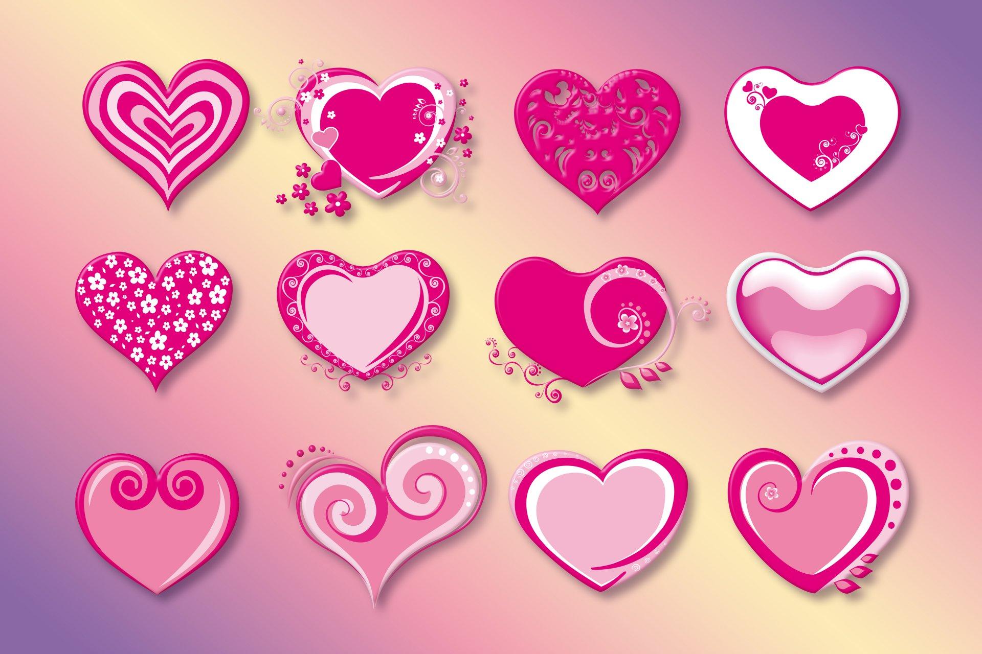 фото рисунки сердечки изготавливаются однотонной